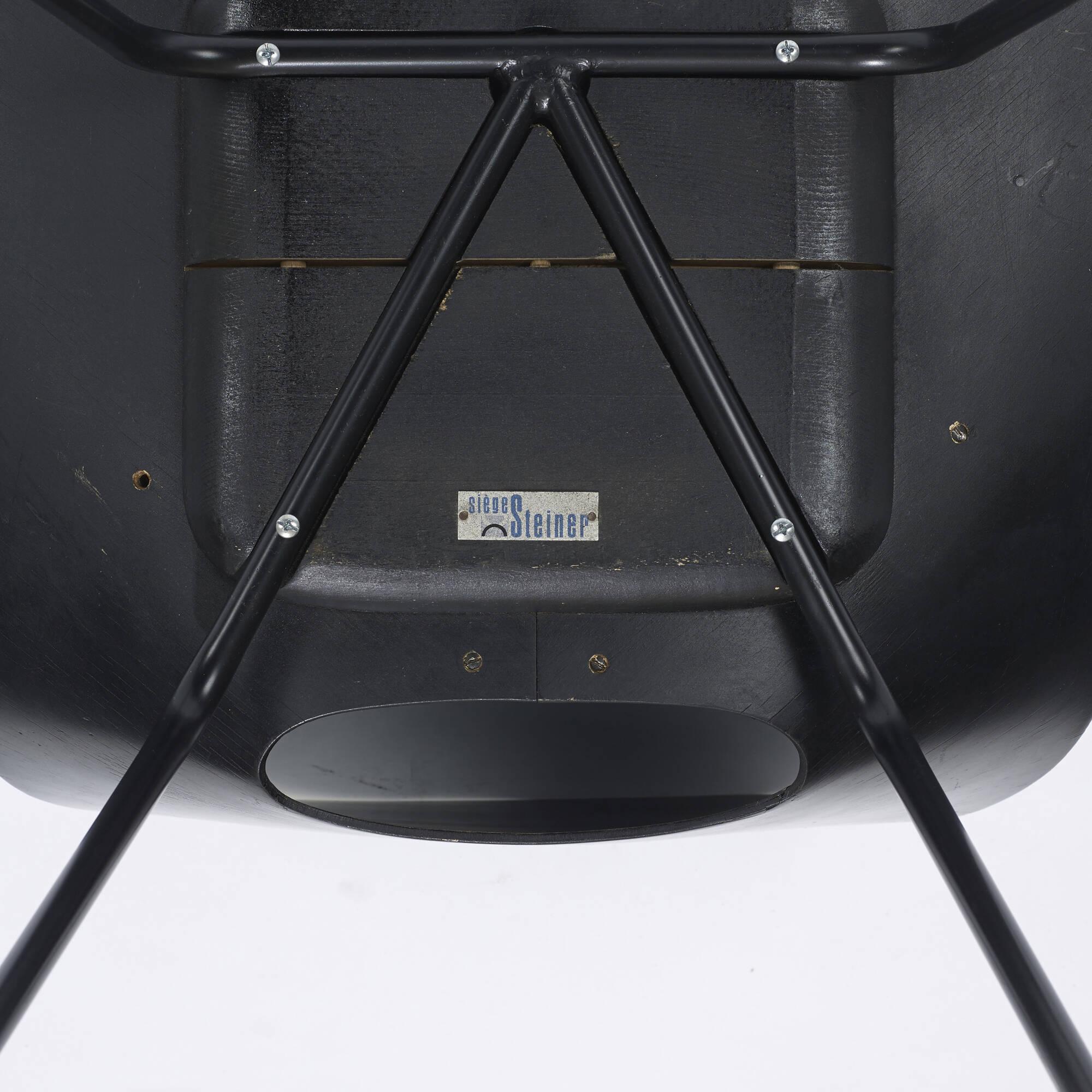 314: Pierre Guariche / Tonneau chairs, set of six (4 of 4)