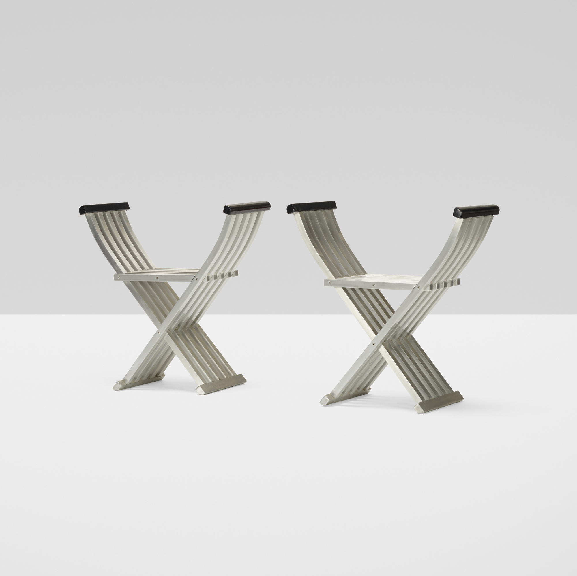 317: John Vesey / Classic Folding benches, pair (1 of 4)