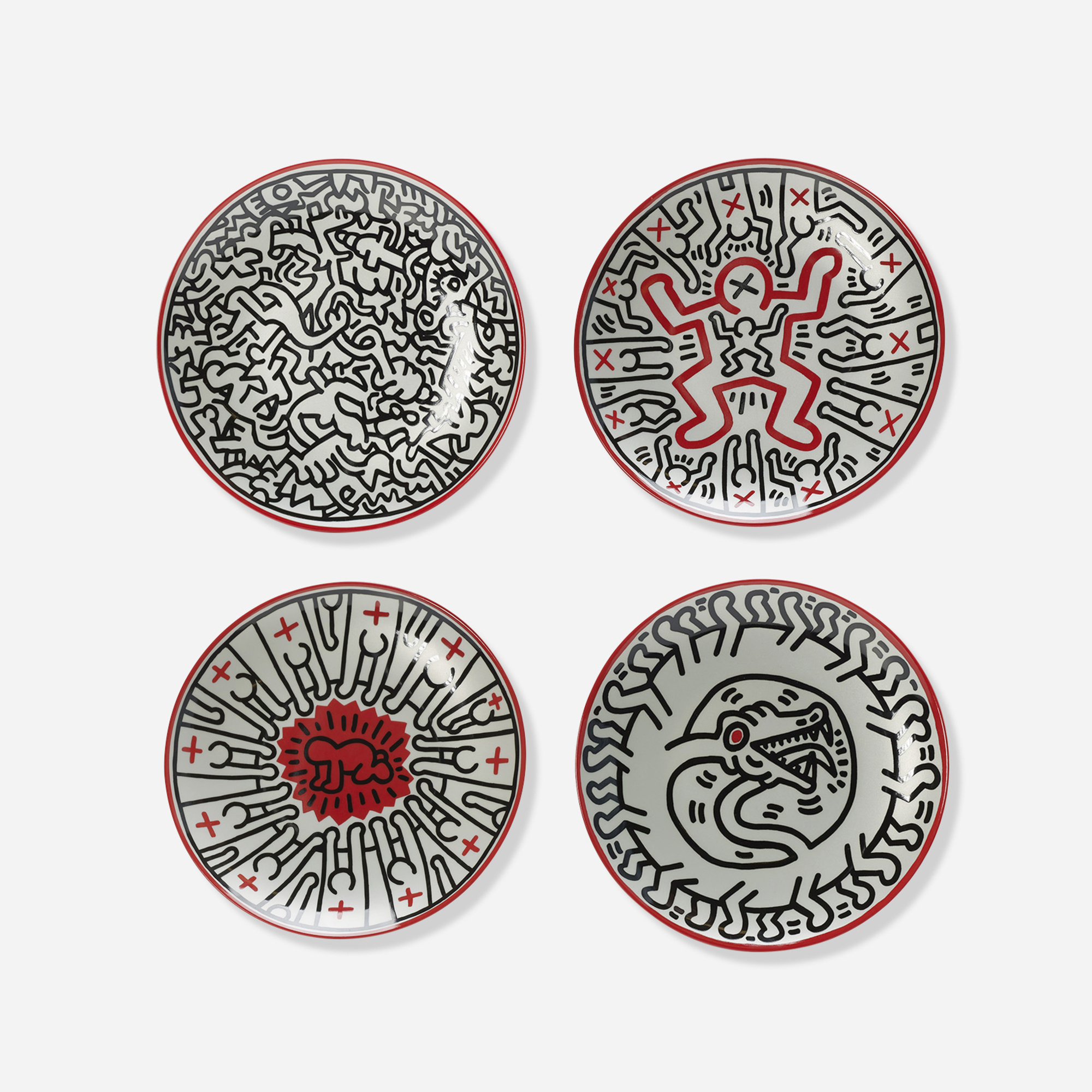 317: Keith Haring / plates, set of four (1 of 3)
