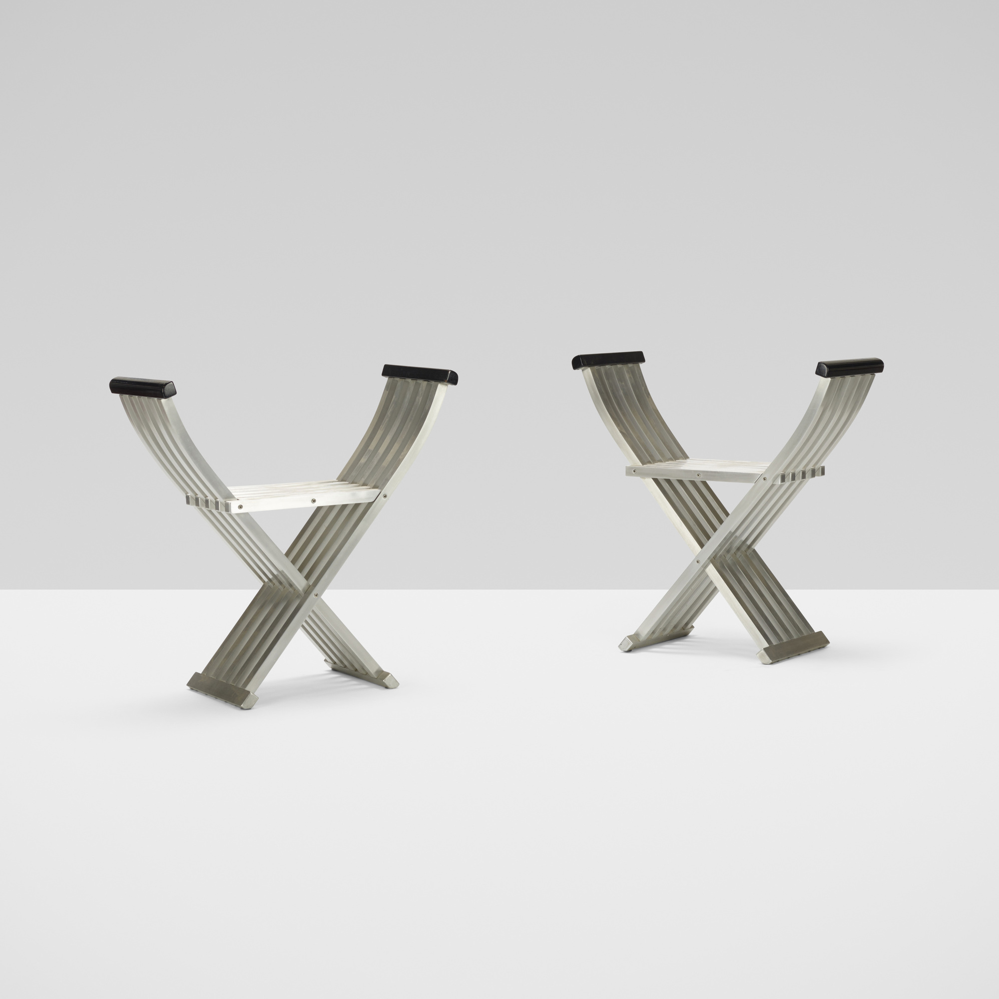 317: John Vesey / Classic Folding benches, pair (2 of 4)