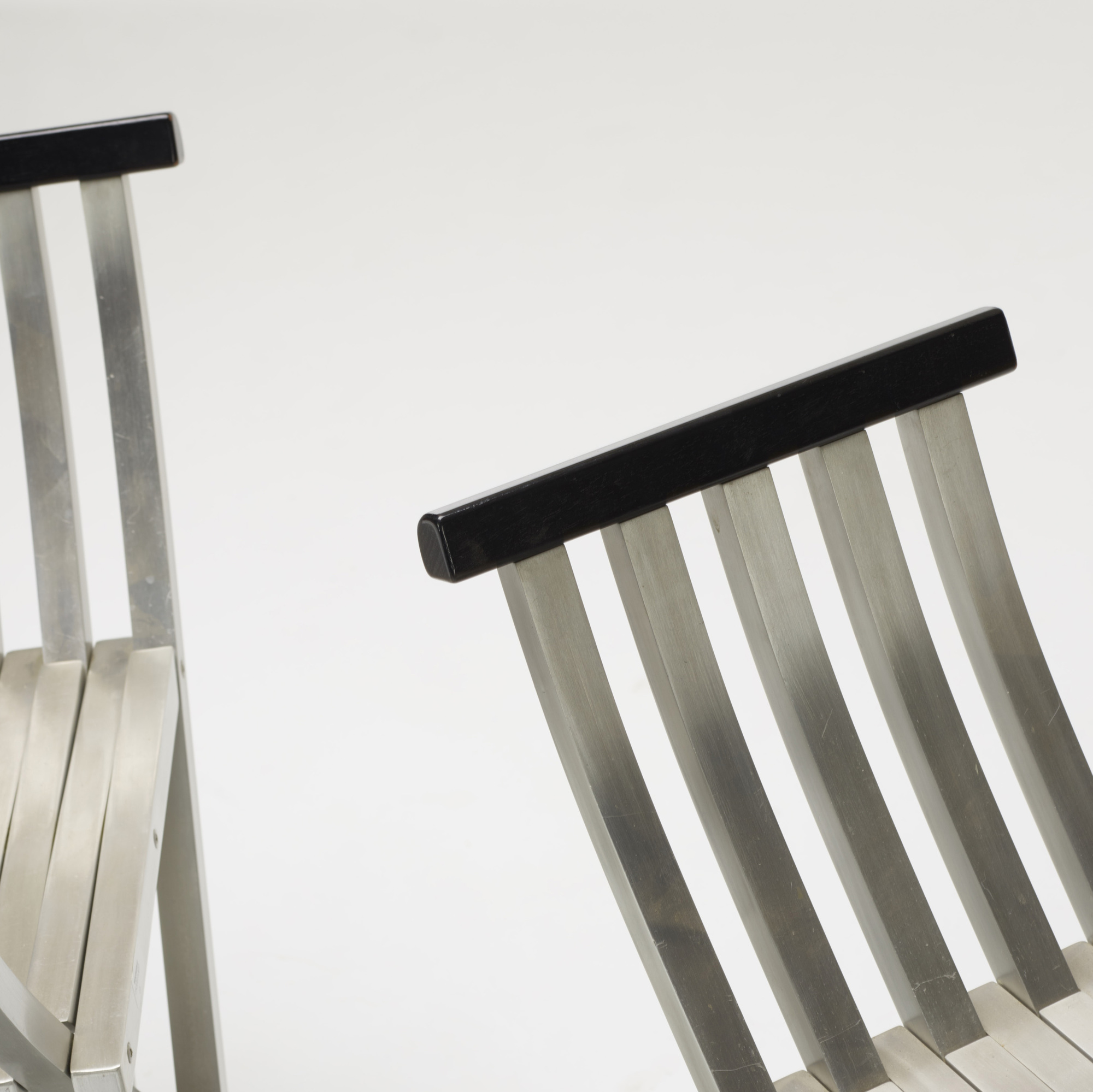 317: John Vesey / Classic Folding benches, pair (3 of 4)