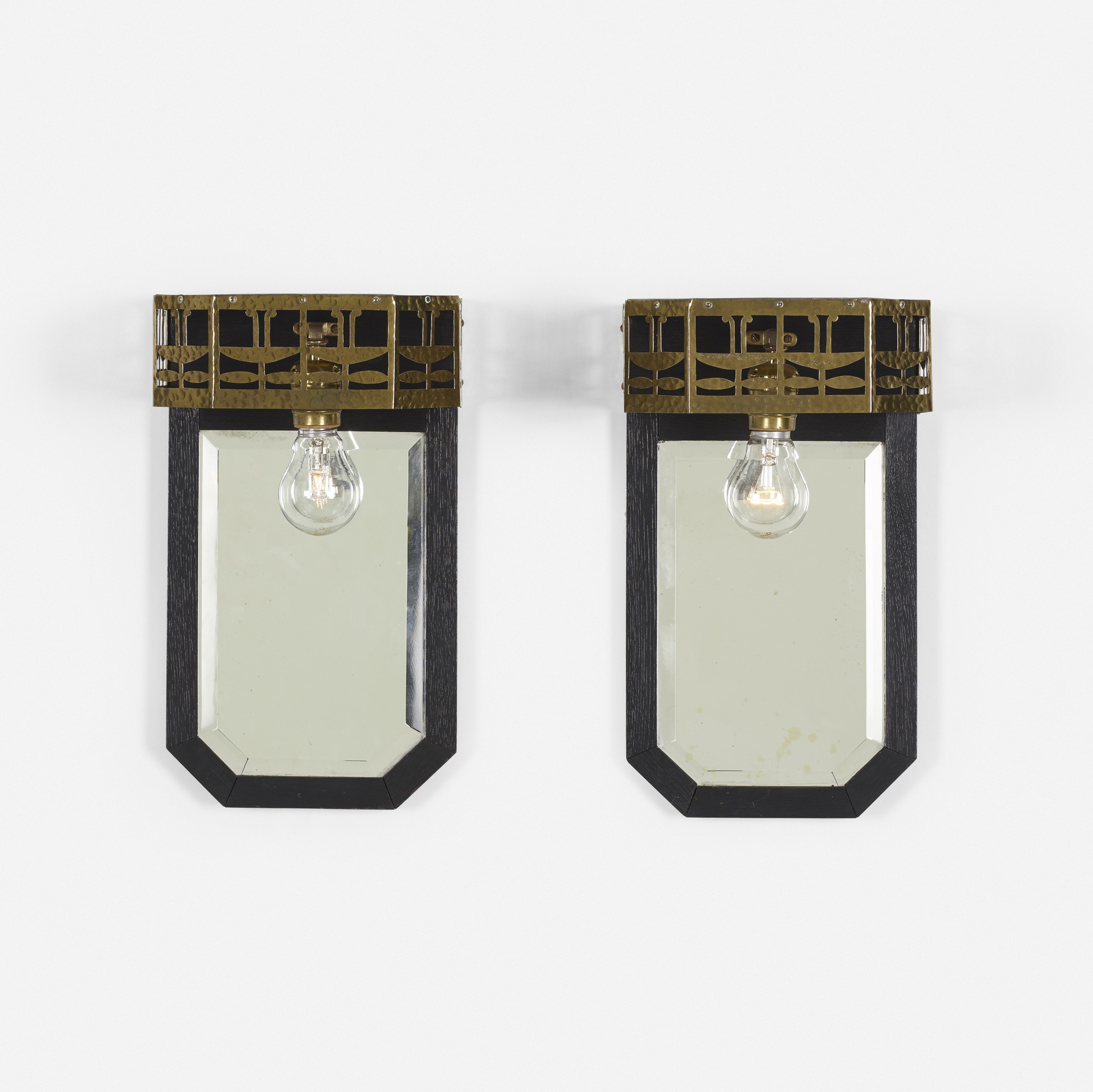 317: Viennese Secessionist / sconces, pair (2 of 2)