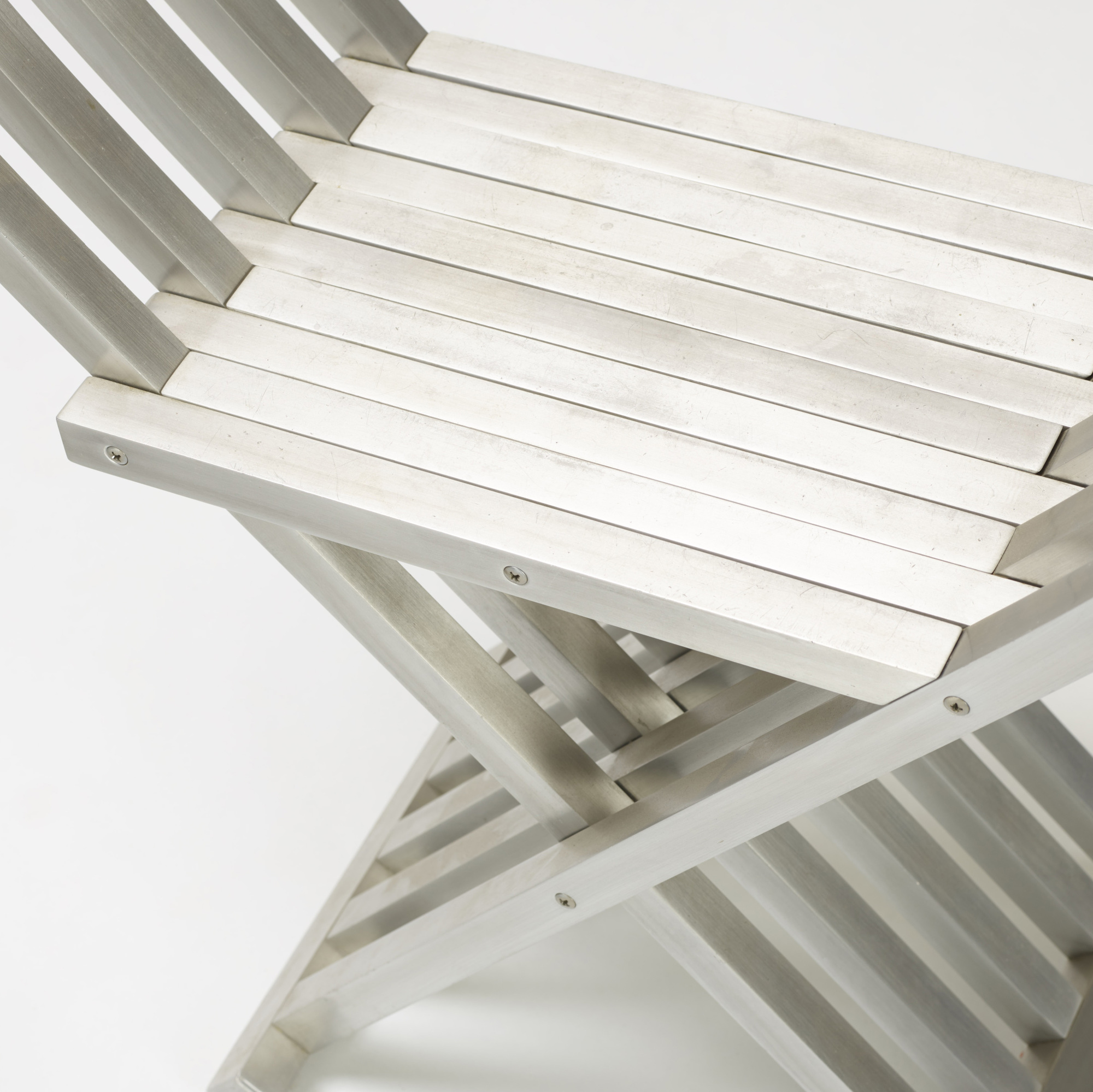 317: John Vesey / Classic Folding benches, pair (4 of 4)
