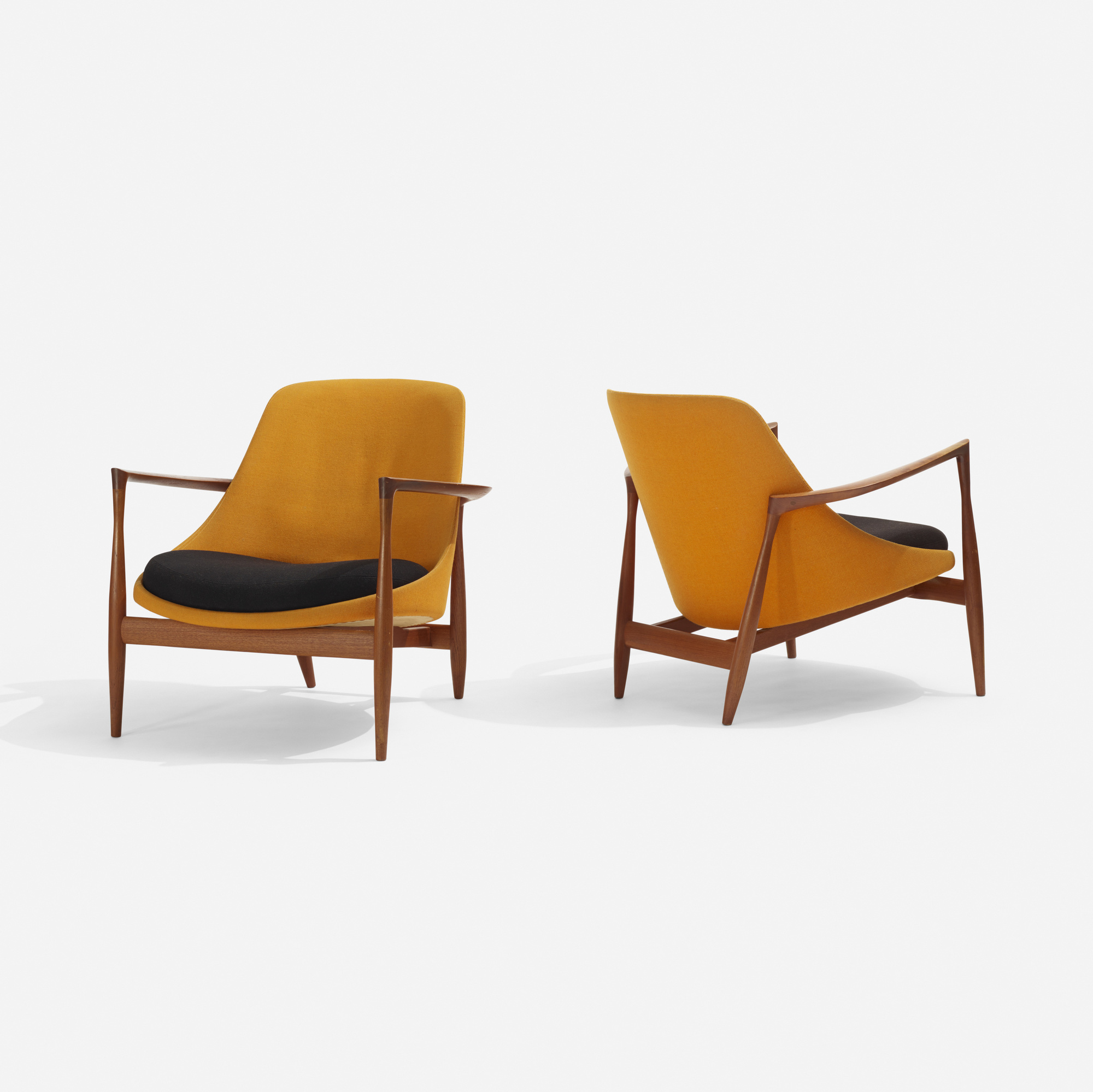 318: Ib Kofod-Larsen / Elizabeth chairs, pair (1 of 4)