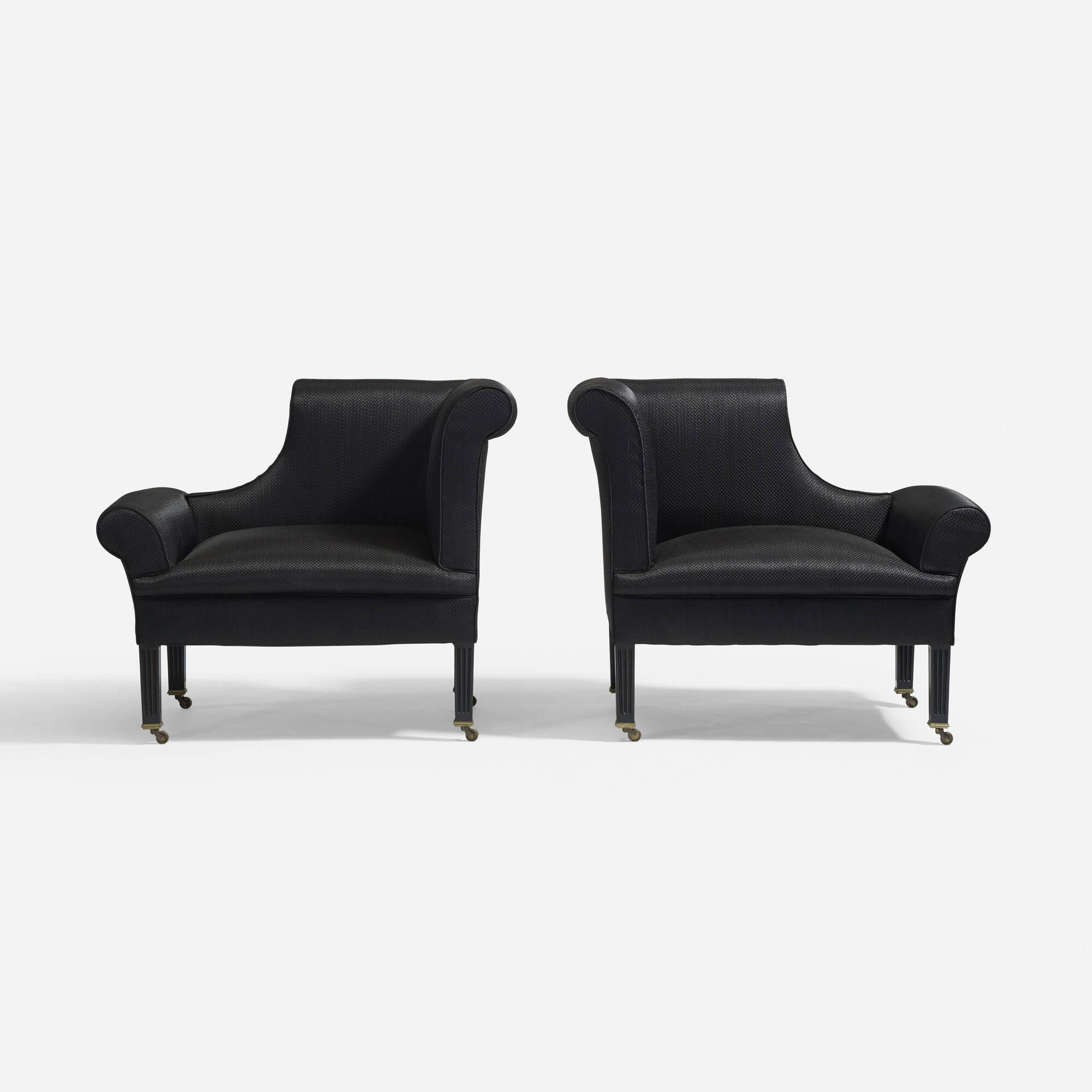 319 sir edwin lutyens napoleon chairs pair living contemporary