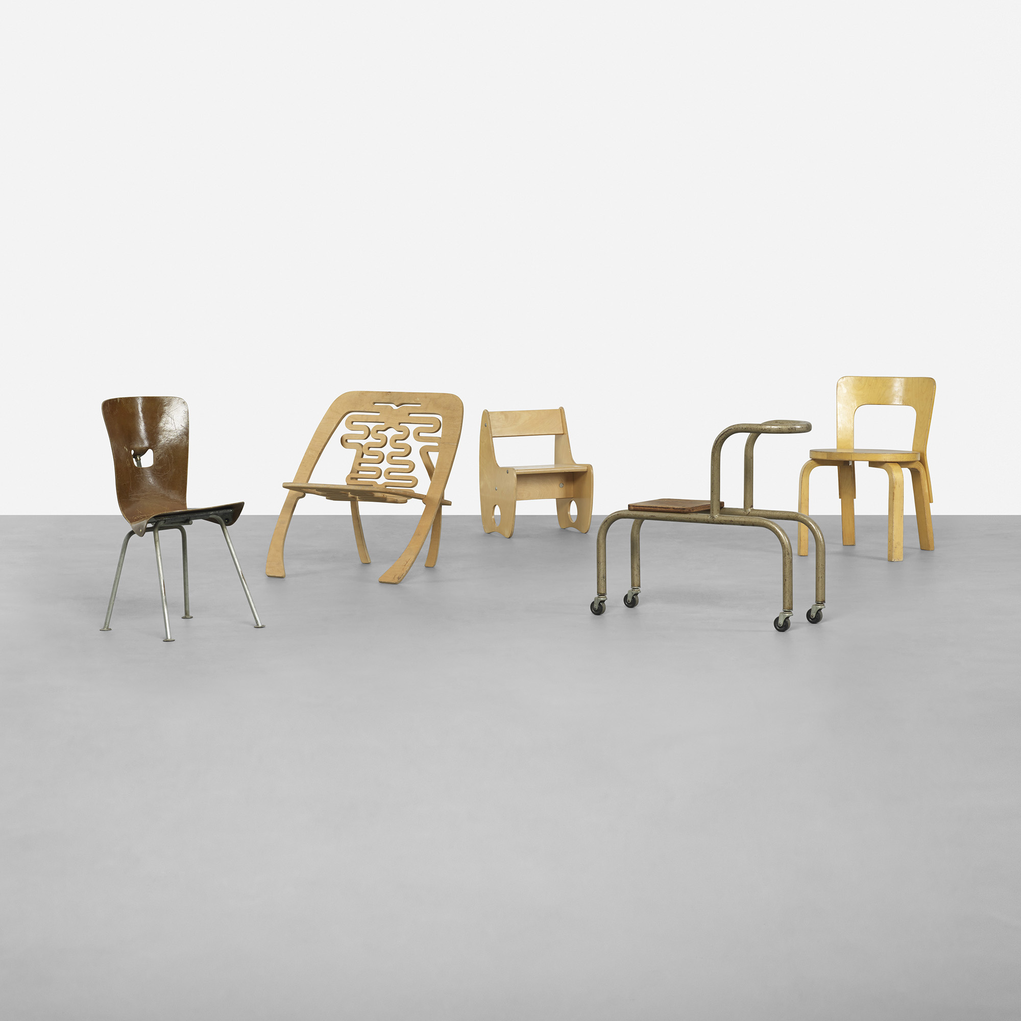 319 Various Designers Collection Of Five Childrenaposs Chairs Childrens 2