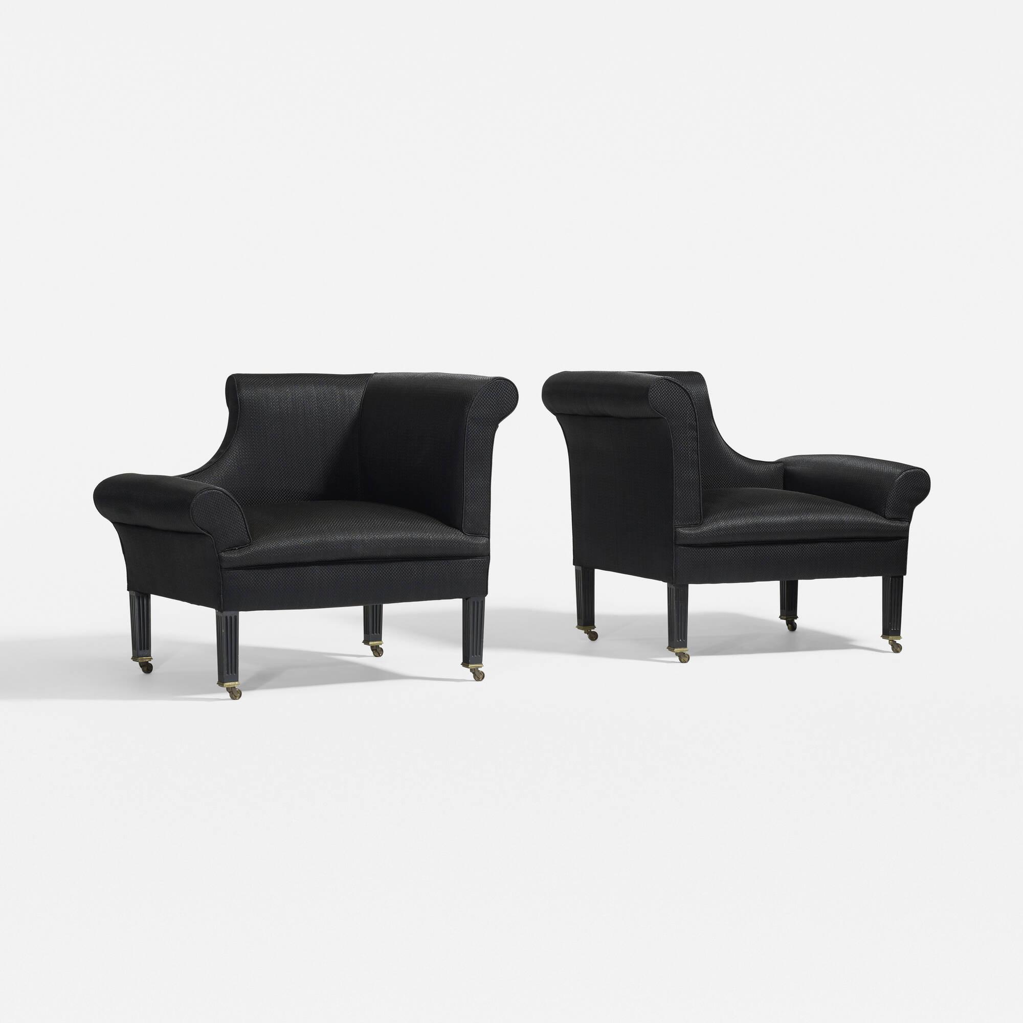 319: Sir Edwin Lutyens / Napoleon chairs, pair (2 of 3)