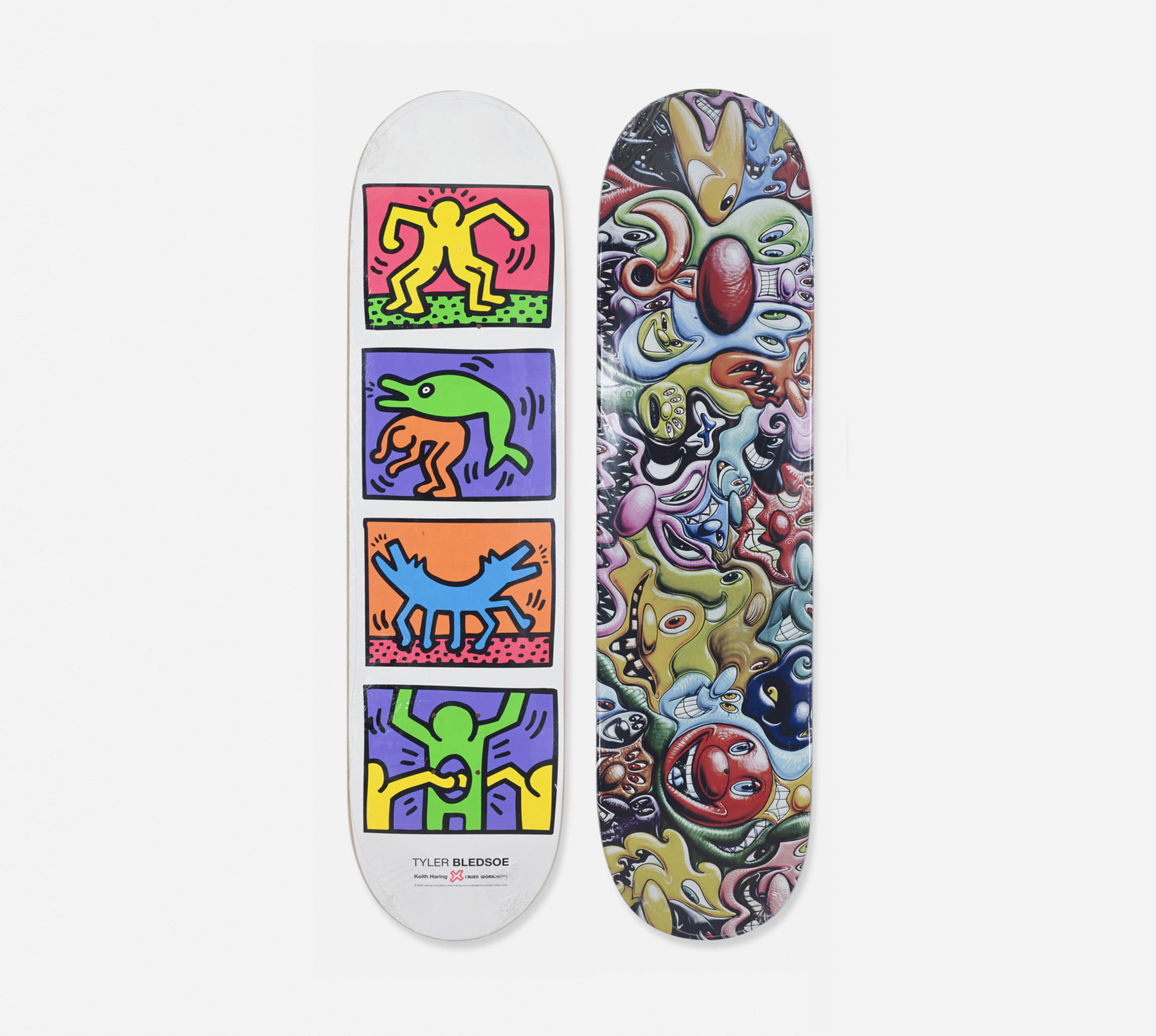 320: Keith Haring and Kenny Scharf / skateboard decks, pair (1 of 1)