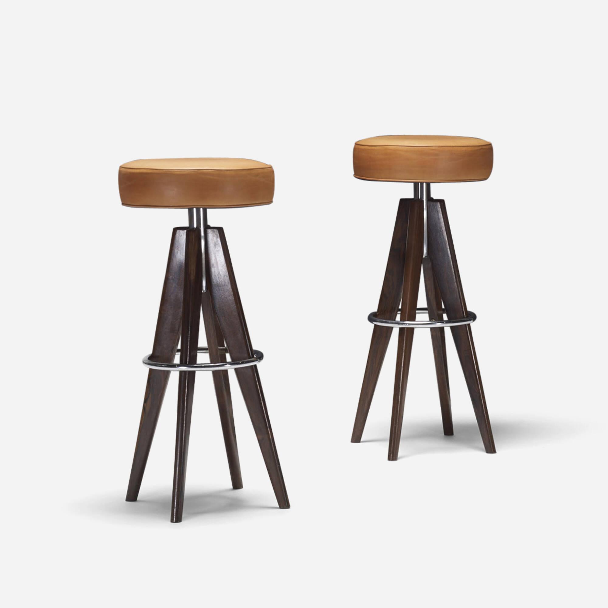320: Arne Hovmand-Olsen / stools, pair (1 of 2)