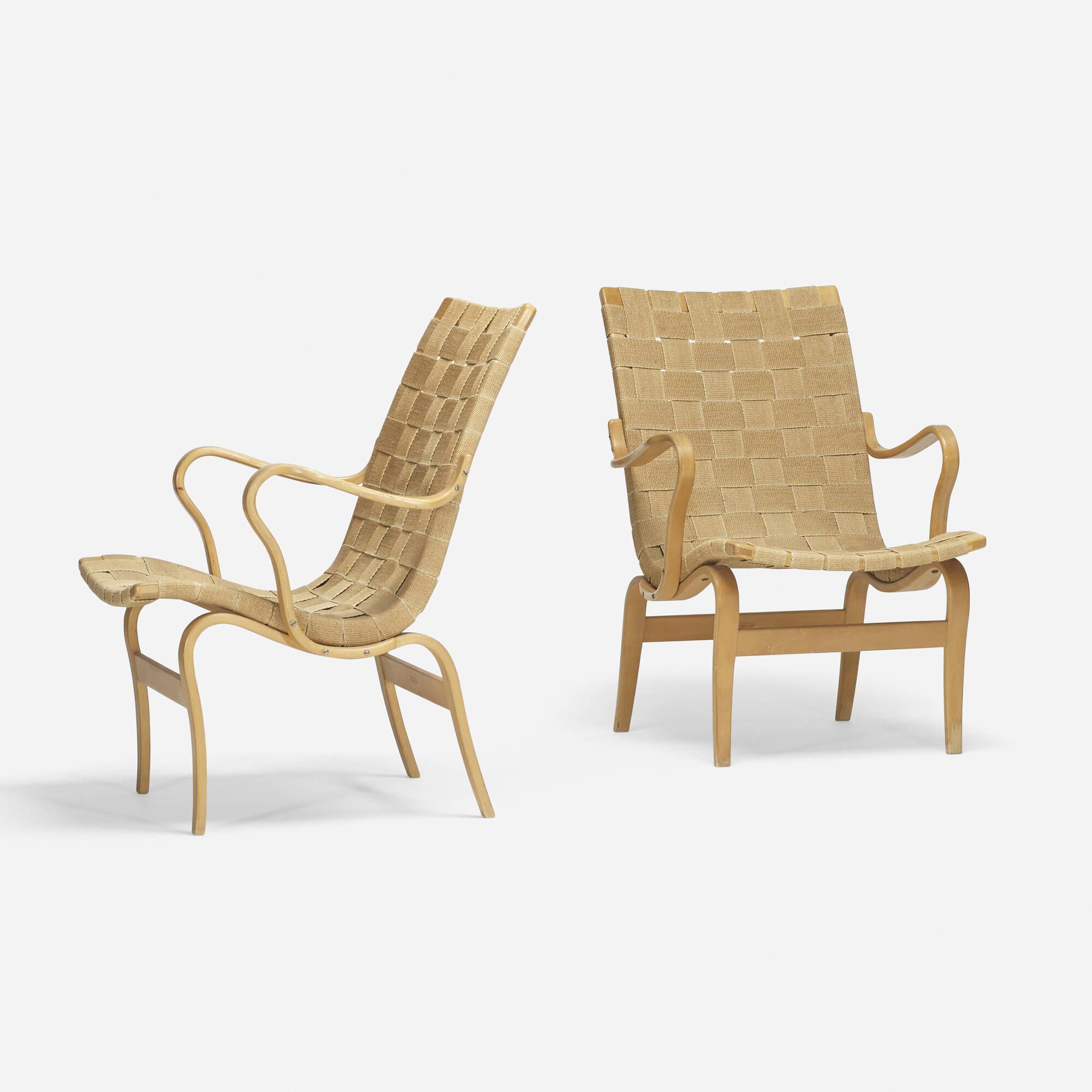 321 Bruno Mathsson Eva chairs pair Design 26 March 2015