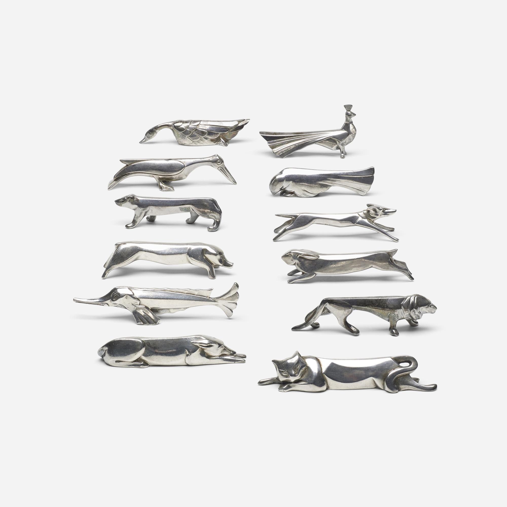 323: Édouard-Marcel Sandoz / collection of twelve knife rests (3 of 4)