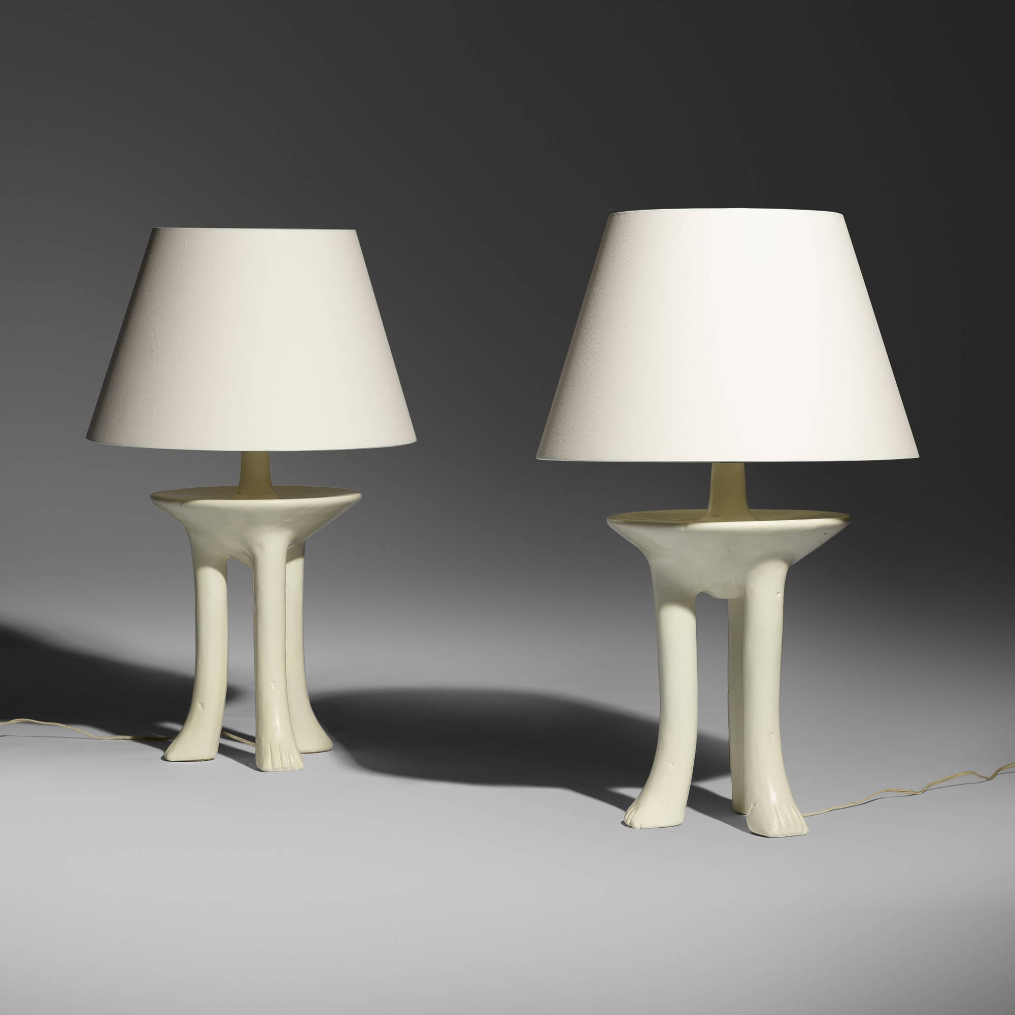 324: John Dickinson / African Table Lamps, Pair (1 Of 3)