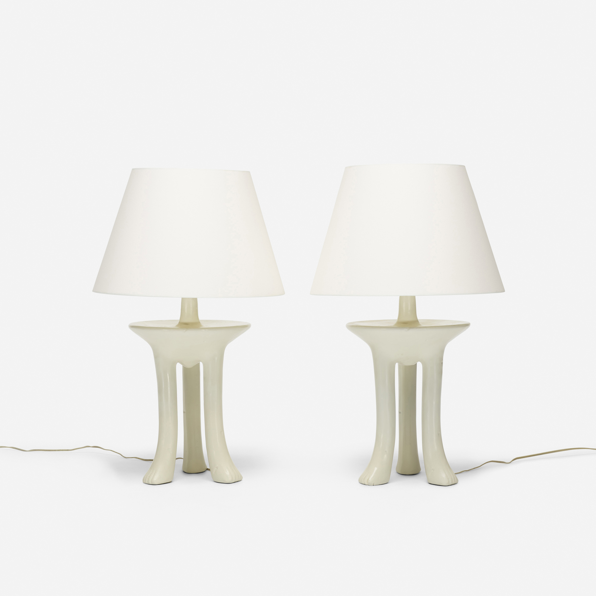 ... 324: John Dickinson / African Table Lamps, Pair (2 Of 3)