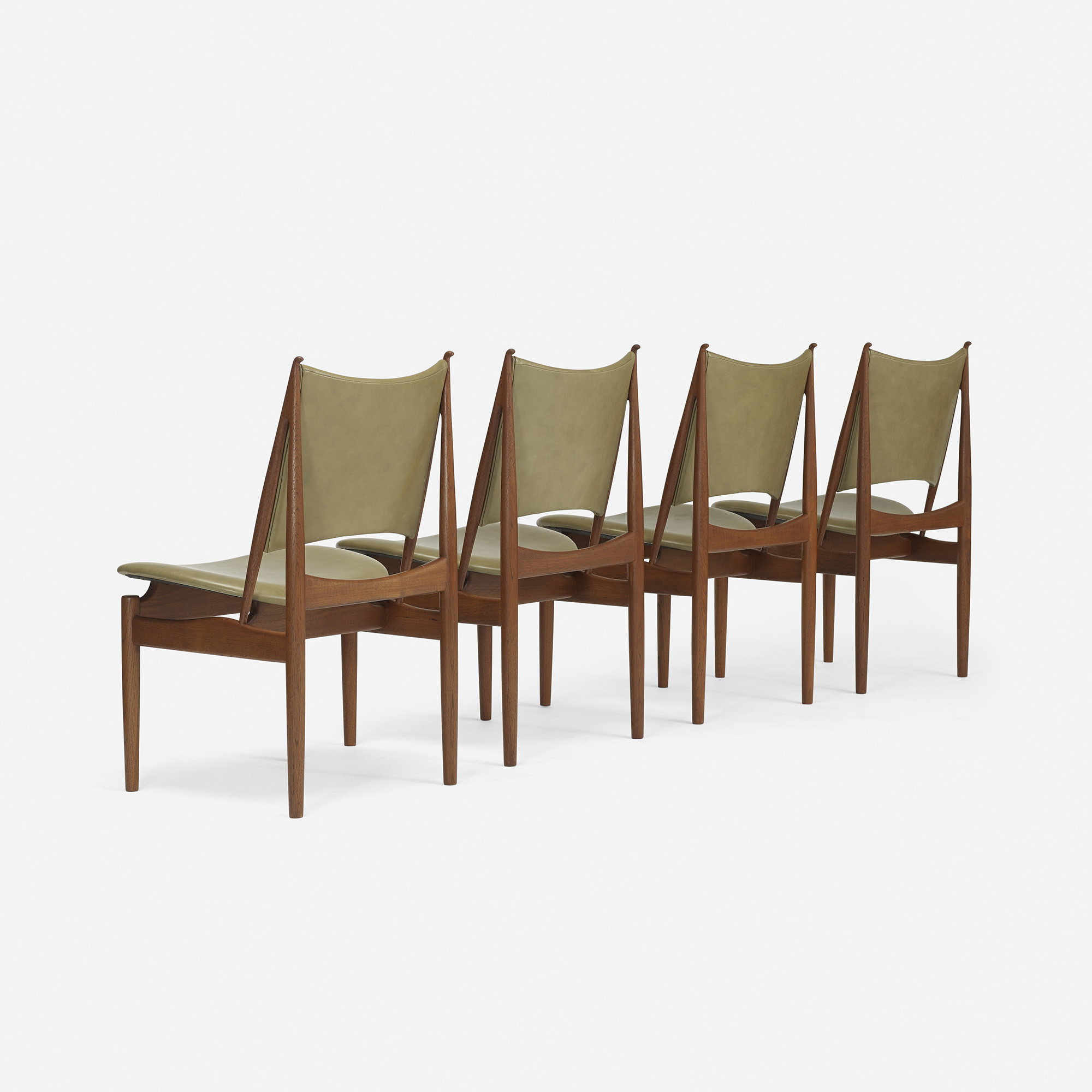 ... 324: Finn Juhl / Egyptian Chairs, Set Of Eight (5 Of 5)