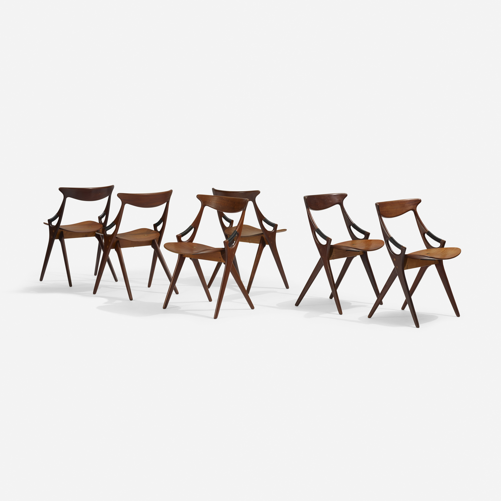 325: Arne Hovmand-Olsen / dining chairs model 71, set of six (1 of 2)