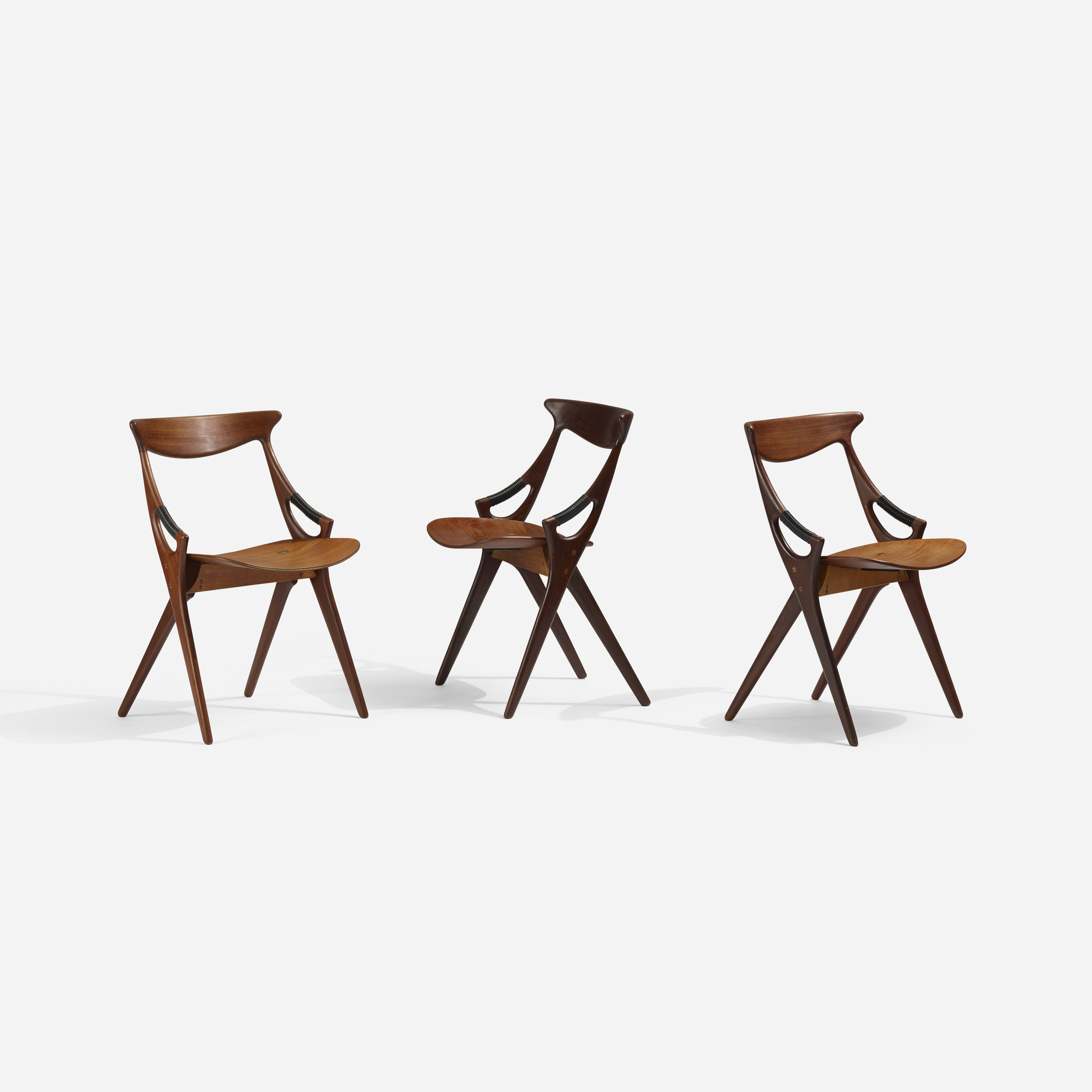 325: Arne Hovmand-Olsen / dining chairs model 71, set of six (2 of 2)