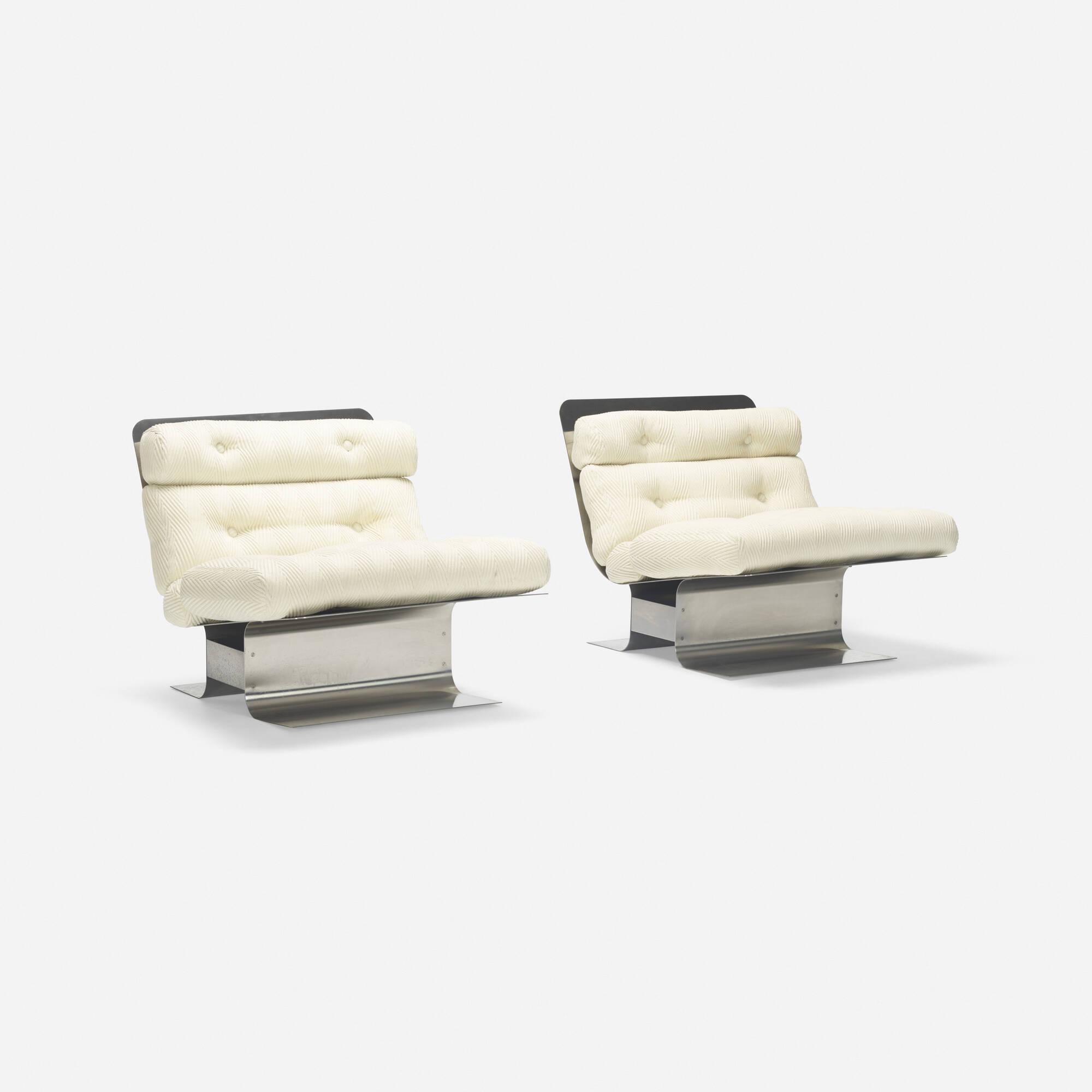 326: François Monnet / lounge chairs, pair (1 of 3)