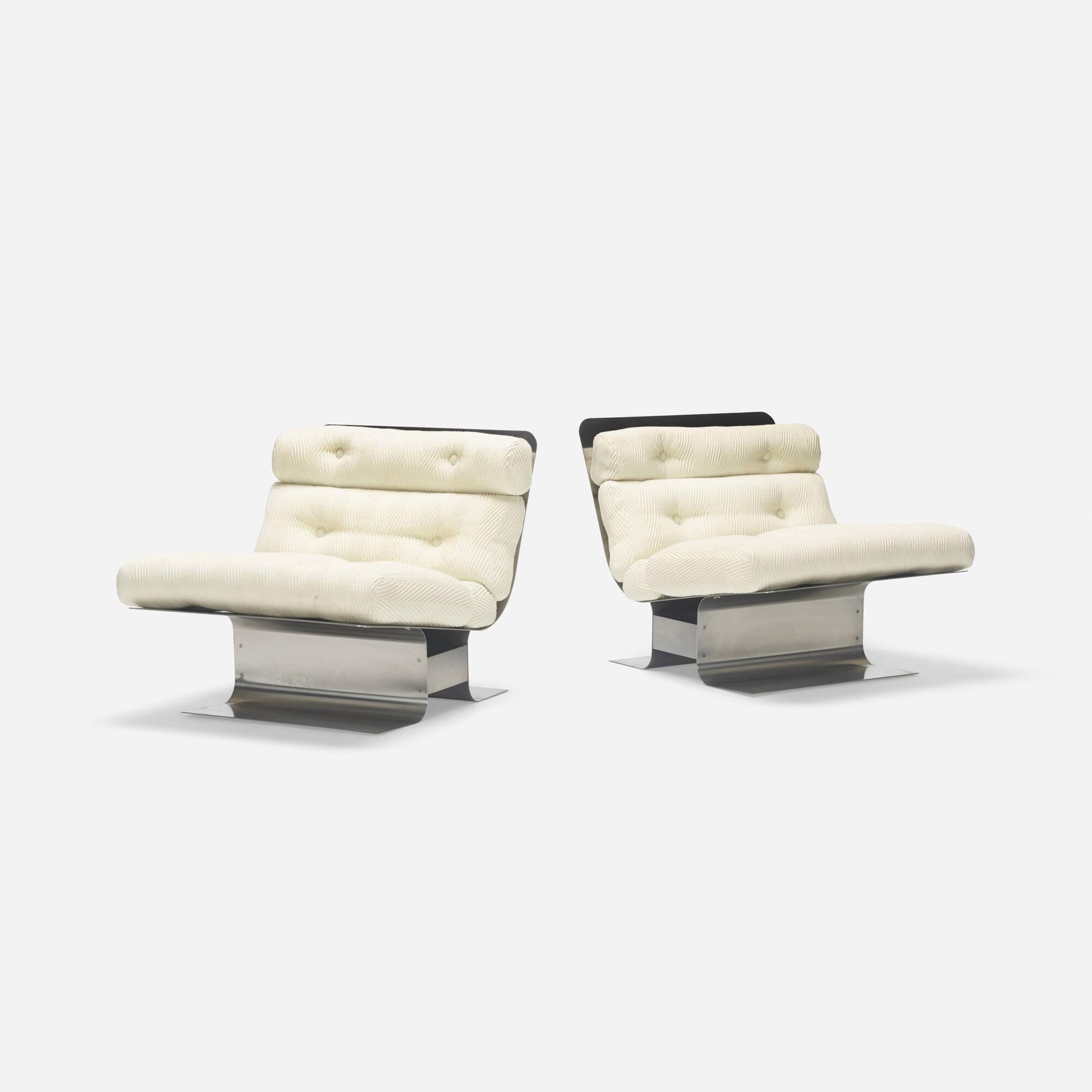 326: François Monnet / lounge chairs, pair (2 of 3)