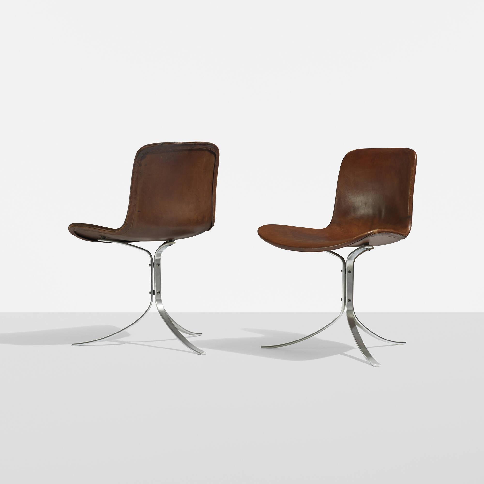 ... 326: Poul Kjaerholm / PK 9 Chairs, Pair (2 Of 4)