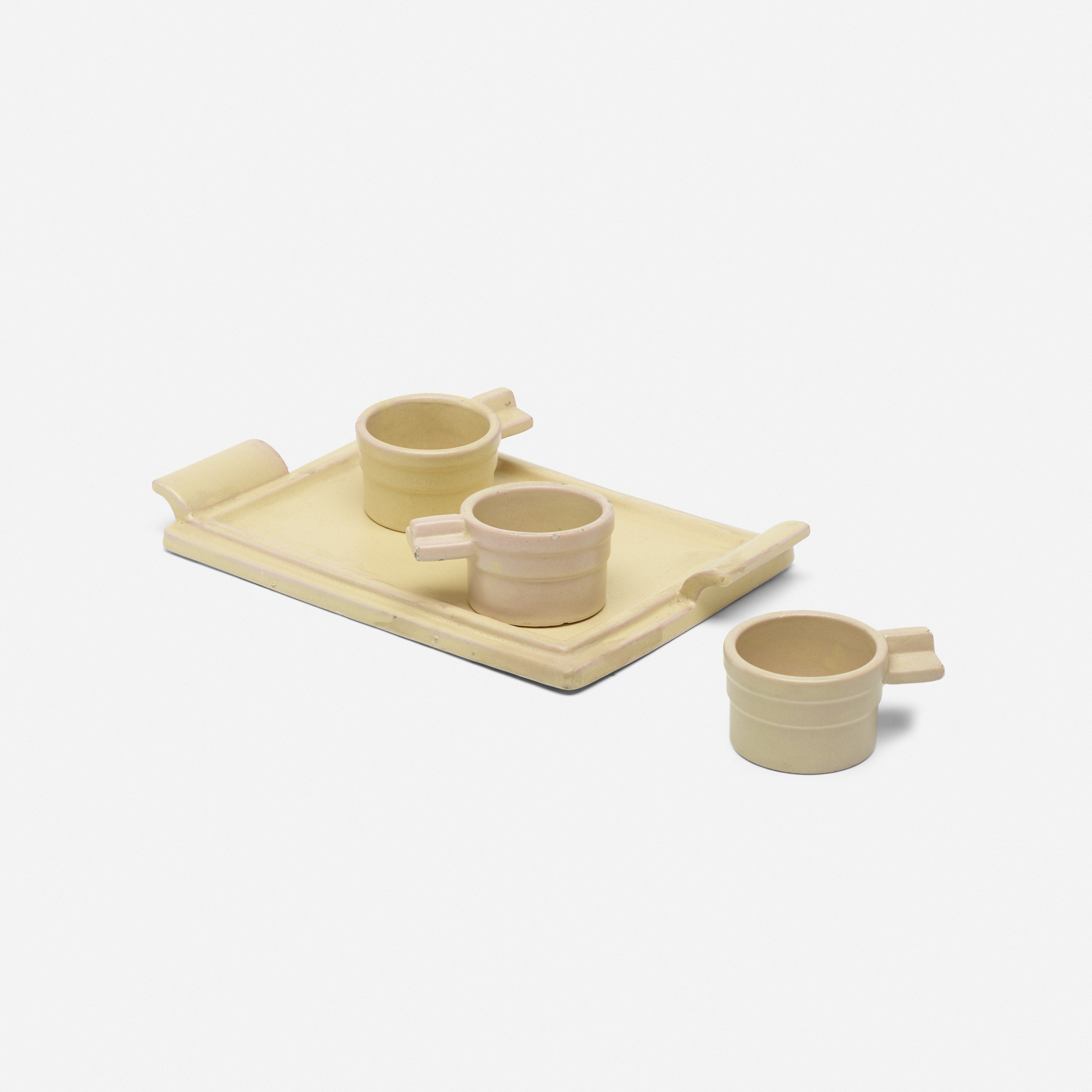 327: Eva Zeisel / tea glass stands and tray (1 of 2)