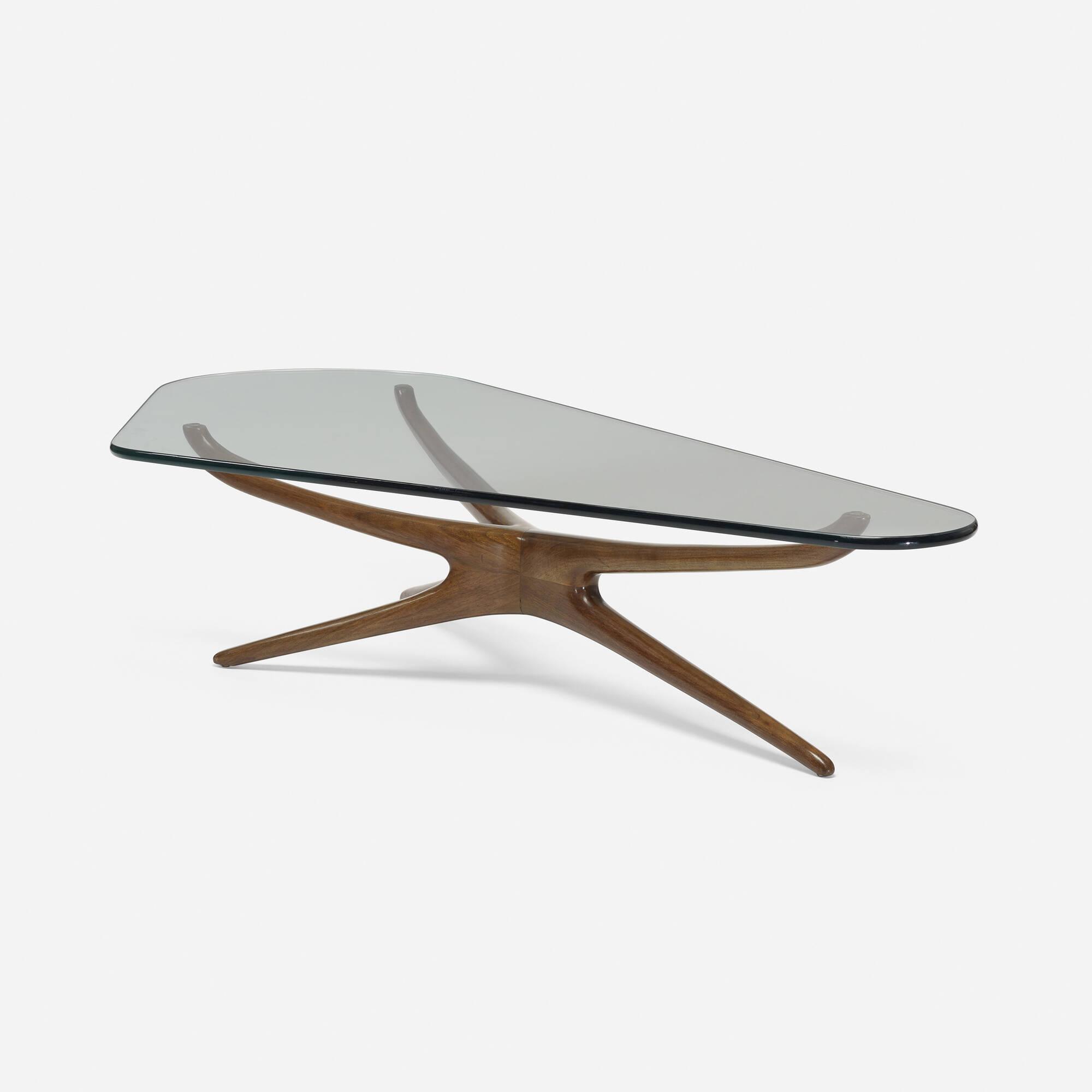 Kagan Coffee Table.327 Vladimir Kagan Tri Symmetric Coffee Table Design 26 March