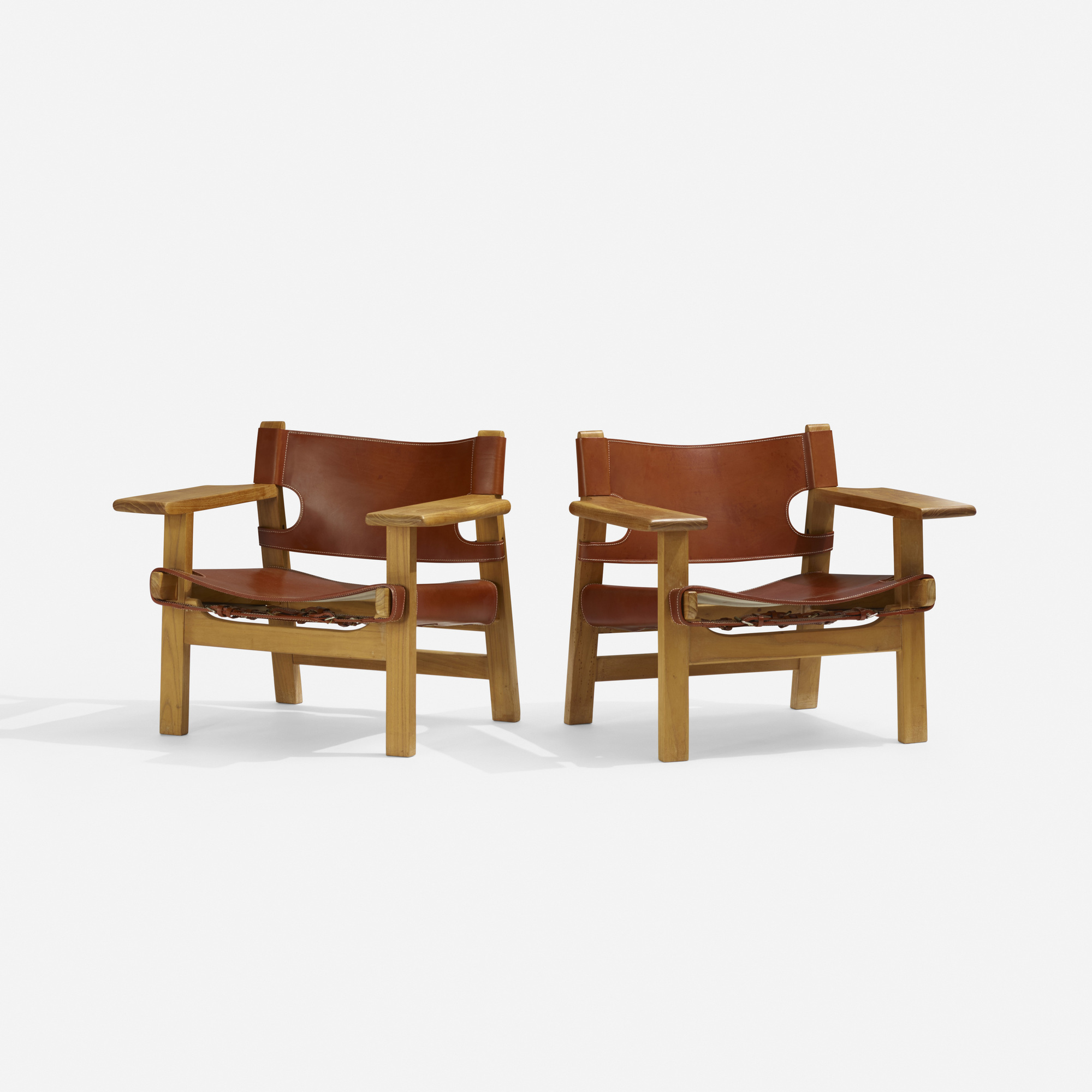 327: Børge Mogensen / Spanish chairs, pair (2 of 3)