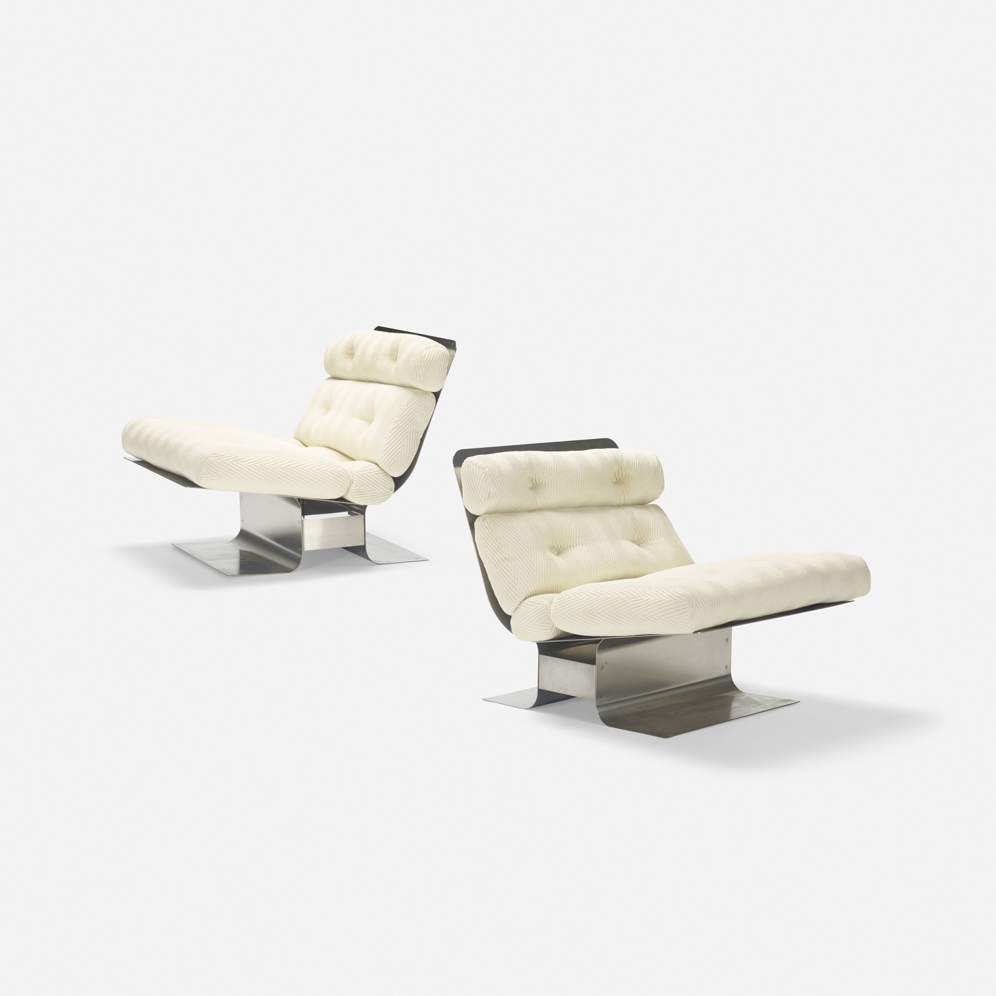 328: François Monnet / lounge chairs, pair (1 of 5)
