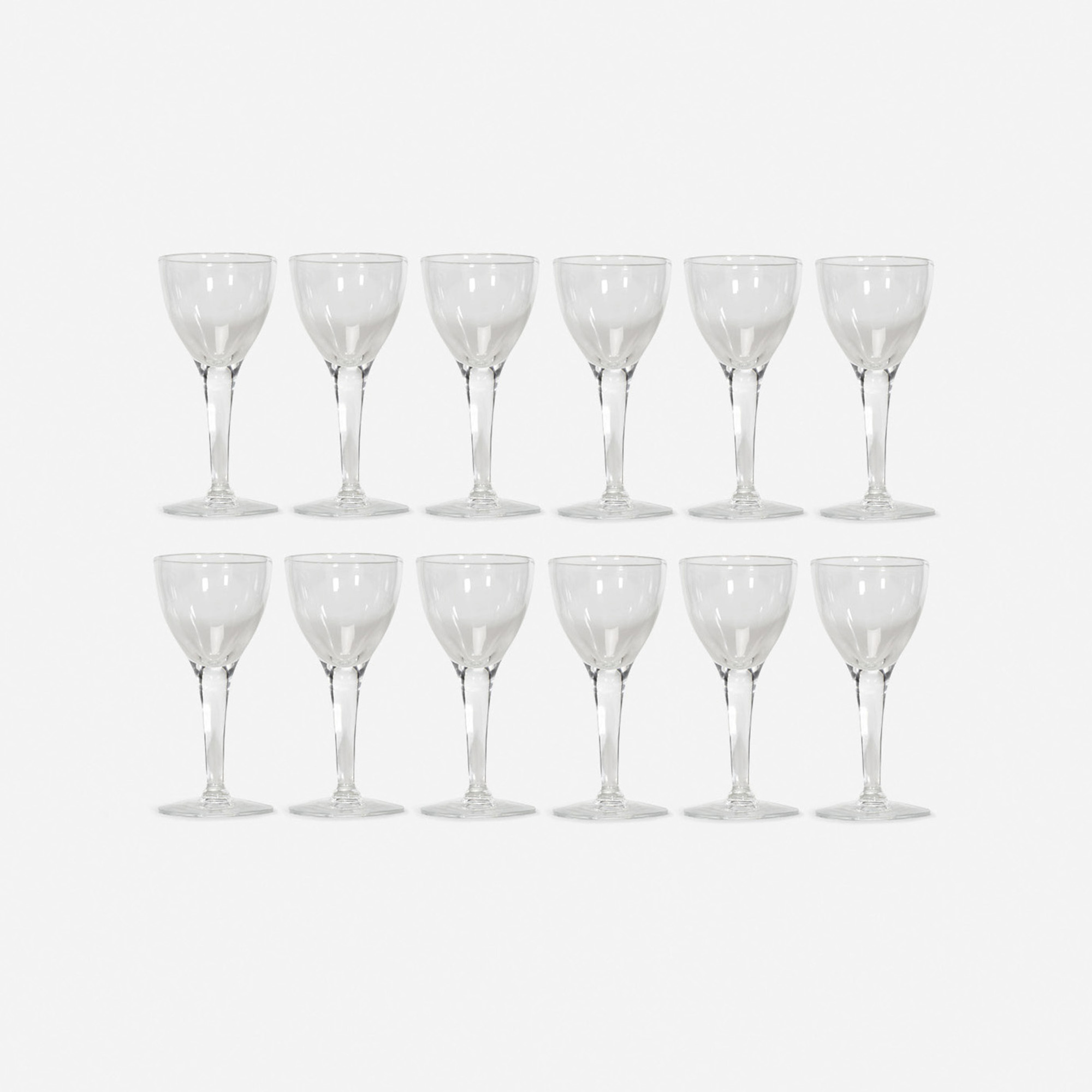 328: Garth and Ada Louise Huxtable / Cordial glasses from The Four Seasons, set of twelve (1 of 1)