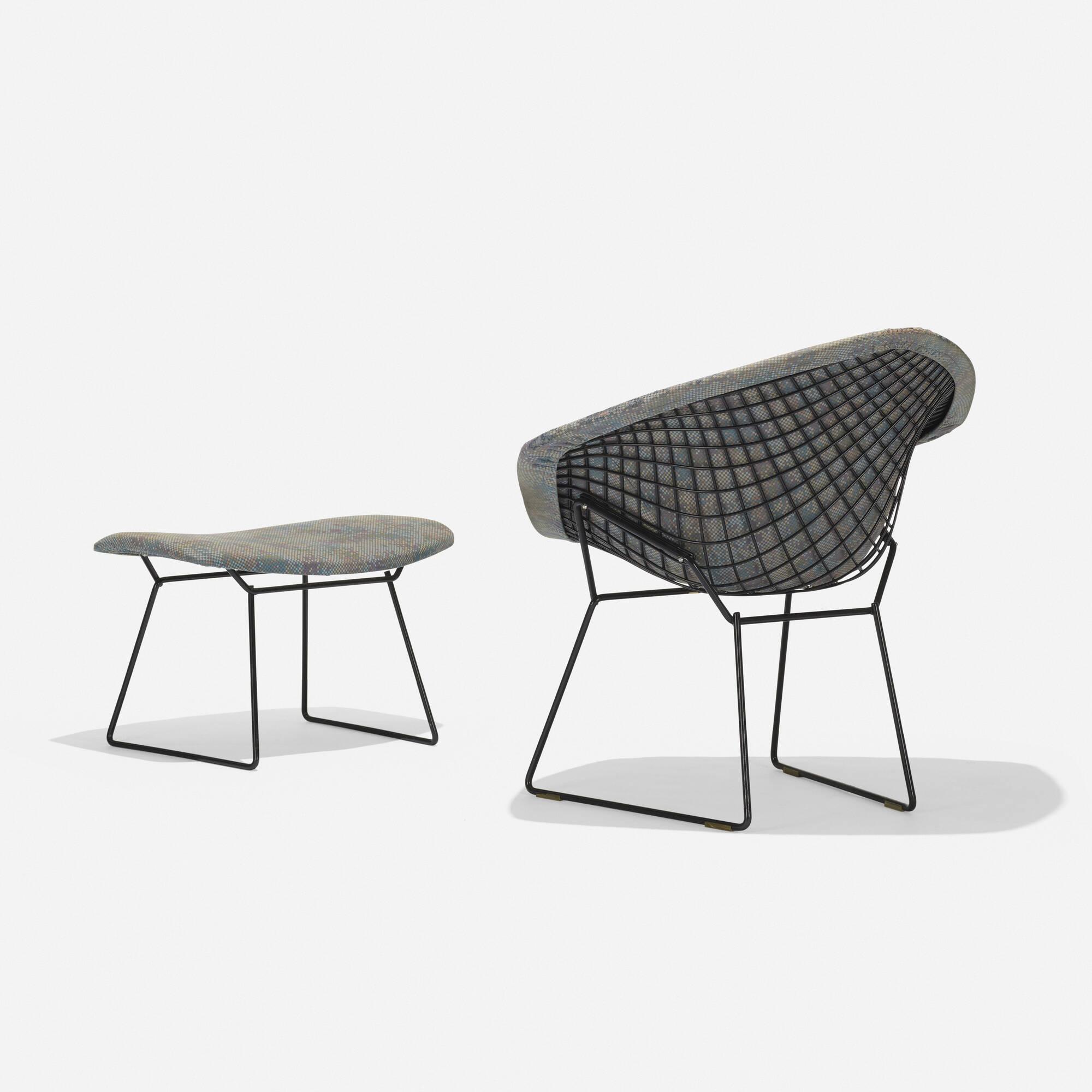 330: Harry Bertoia / Diamond Chair And Ottoman (1 Of 3)