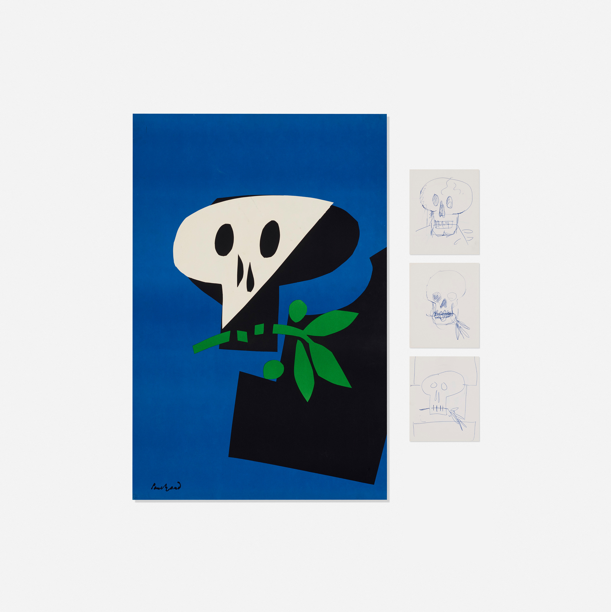 332 paul rand death mask poster and drawings 1 of 1