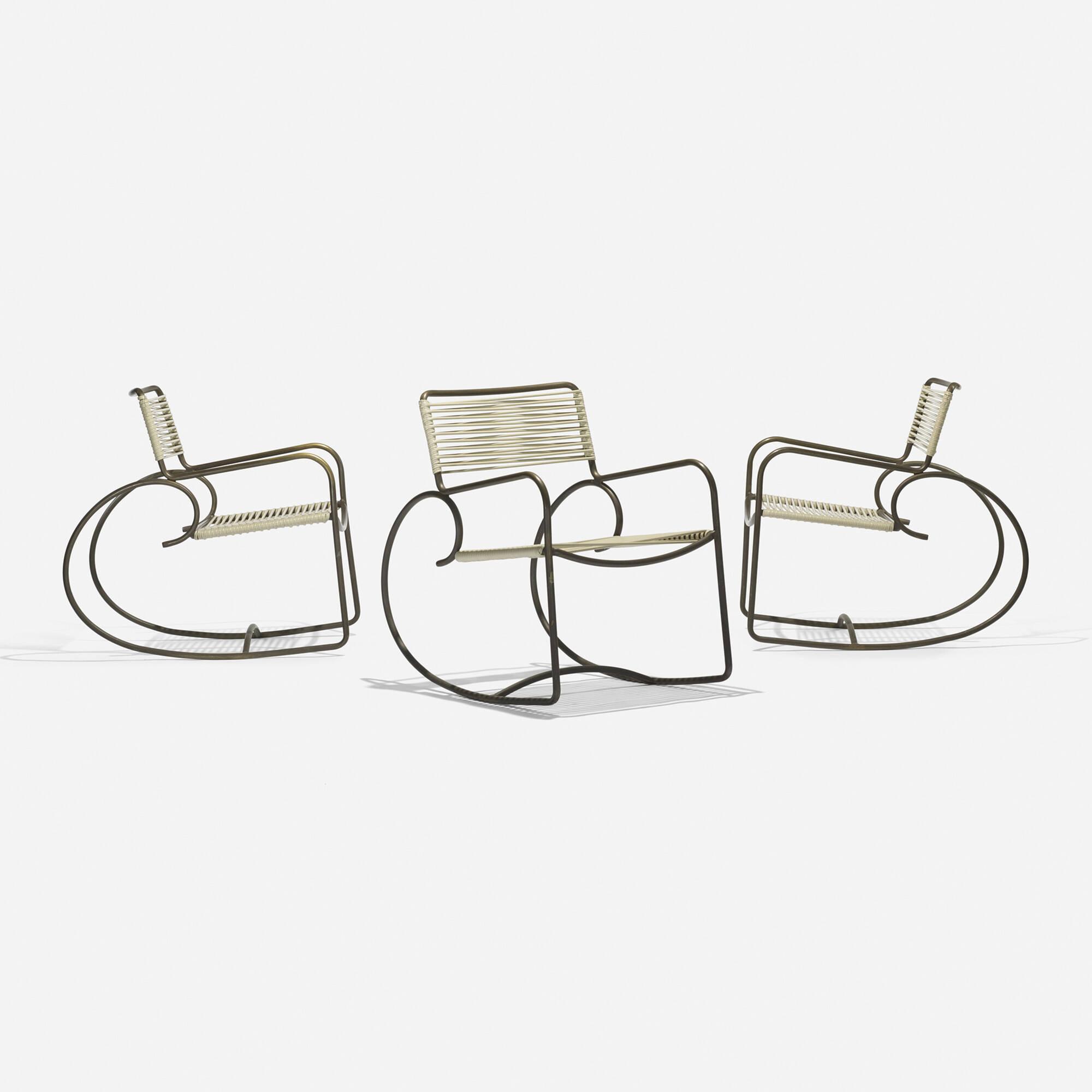Sensational 332 Walter Lamb Rocking Chairs Model C 5701 Set Of Three Inzonedesignstudio Interior Chair Design Inzonedesignstudiocom