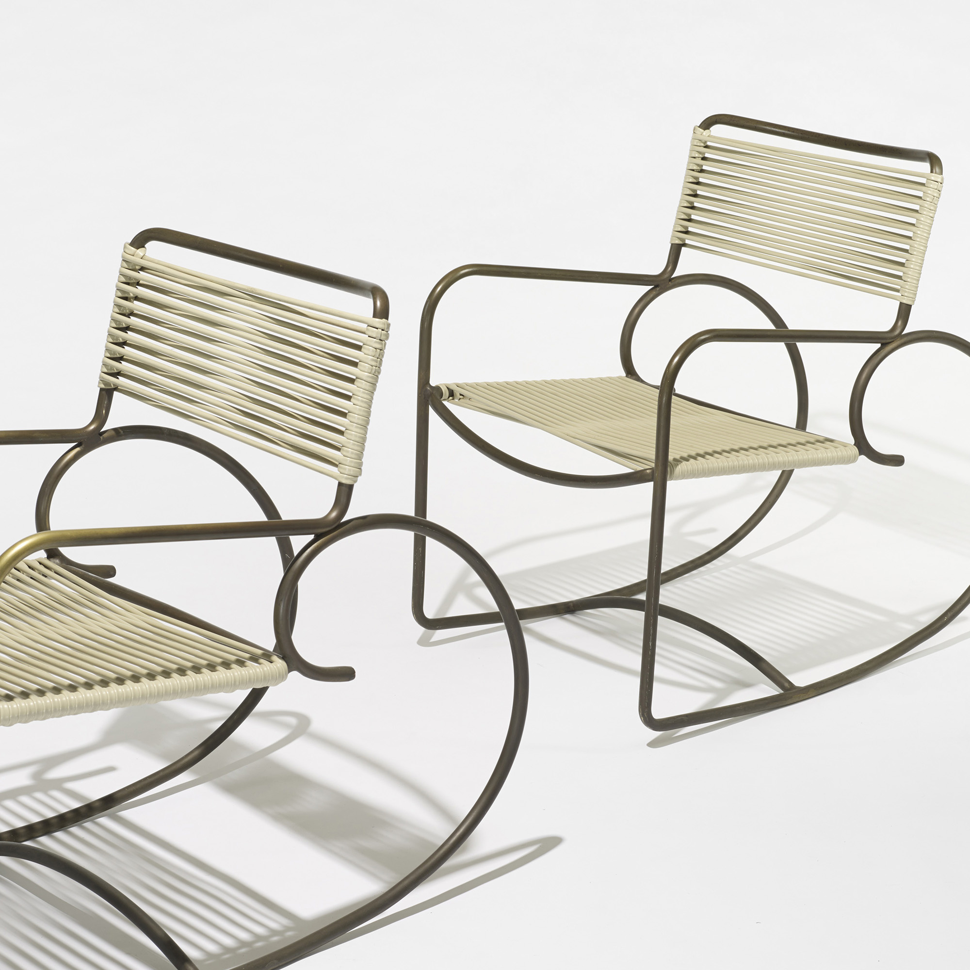 Astonishing 332 Walter Lamb Rocking Chairs Model C 5701 Set Of Three Inzonedesignstudio Interior Chair Design Inzonedesignstudiocom