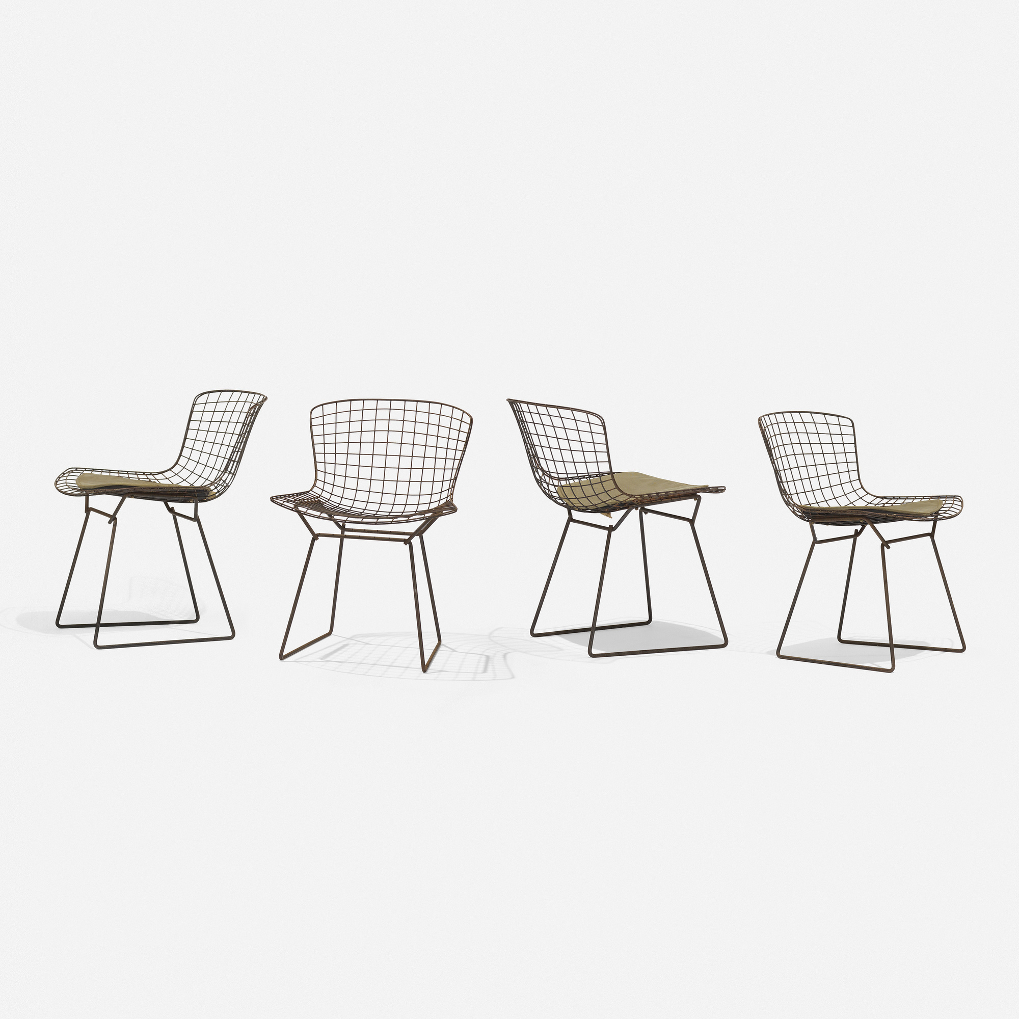 333: Harry Bertoia / Early Wire Chairs, Set Of Four (1 Of 4