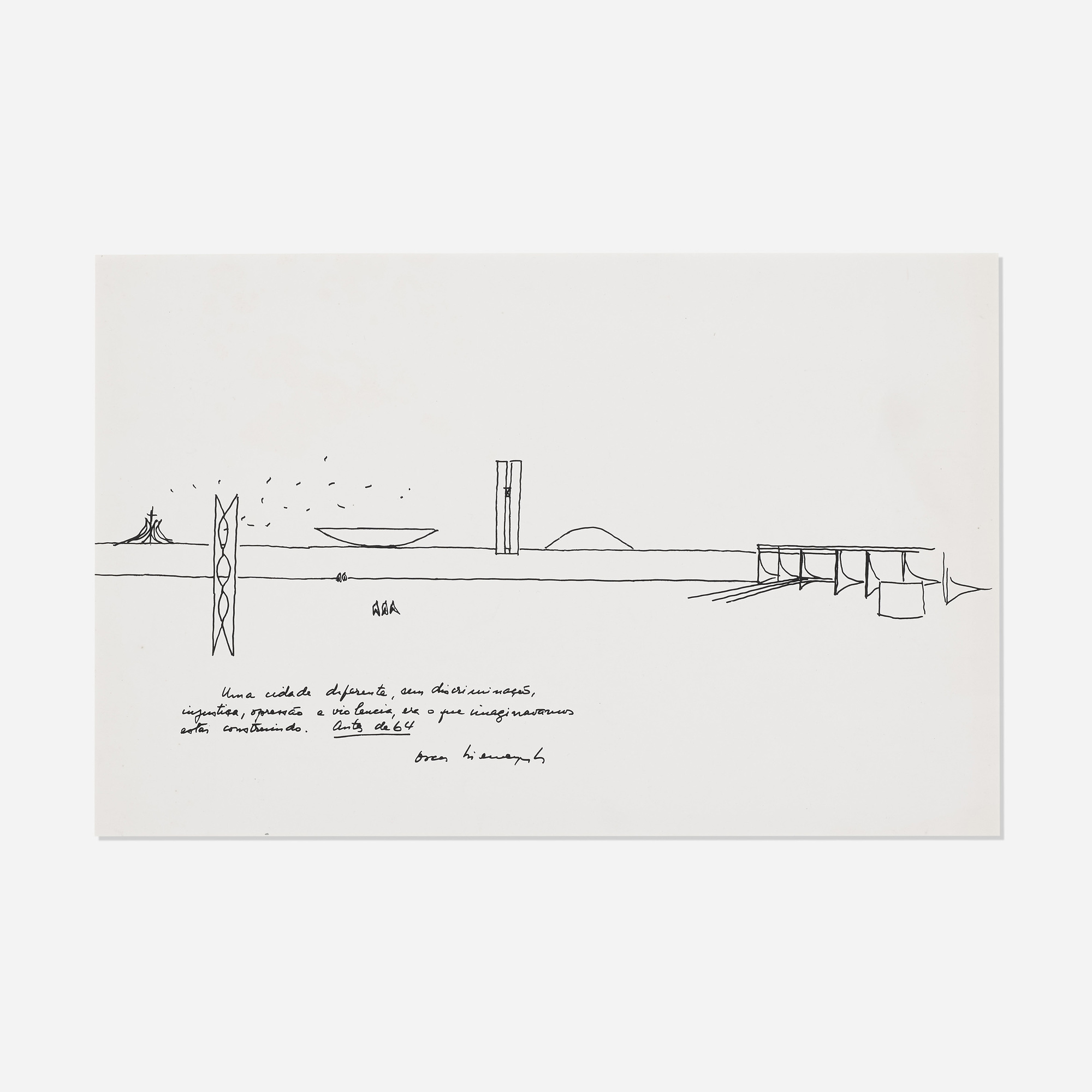 8580f9cf0b79 333  Oscar Niemeyer   Untitled (drawing for Brasilia Planalto Palace) (1