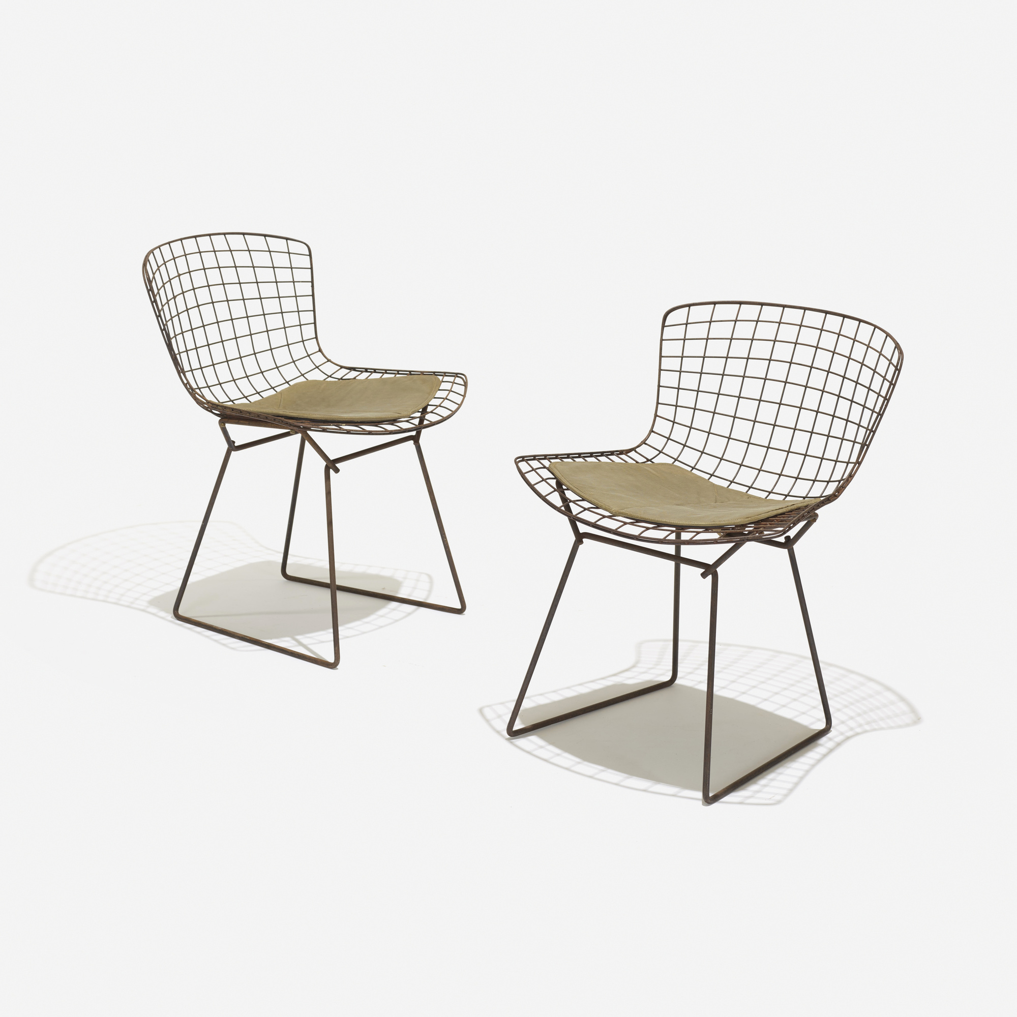 333 Harry Bertoia Early Wire chairs set of four American