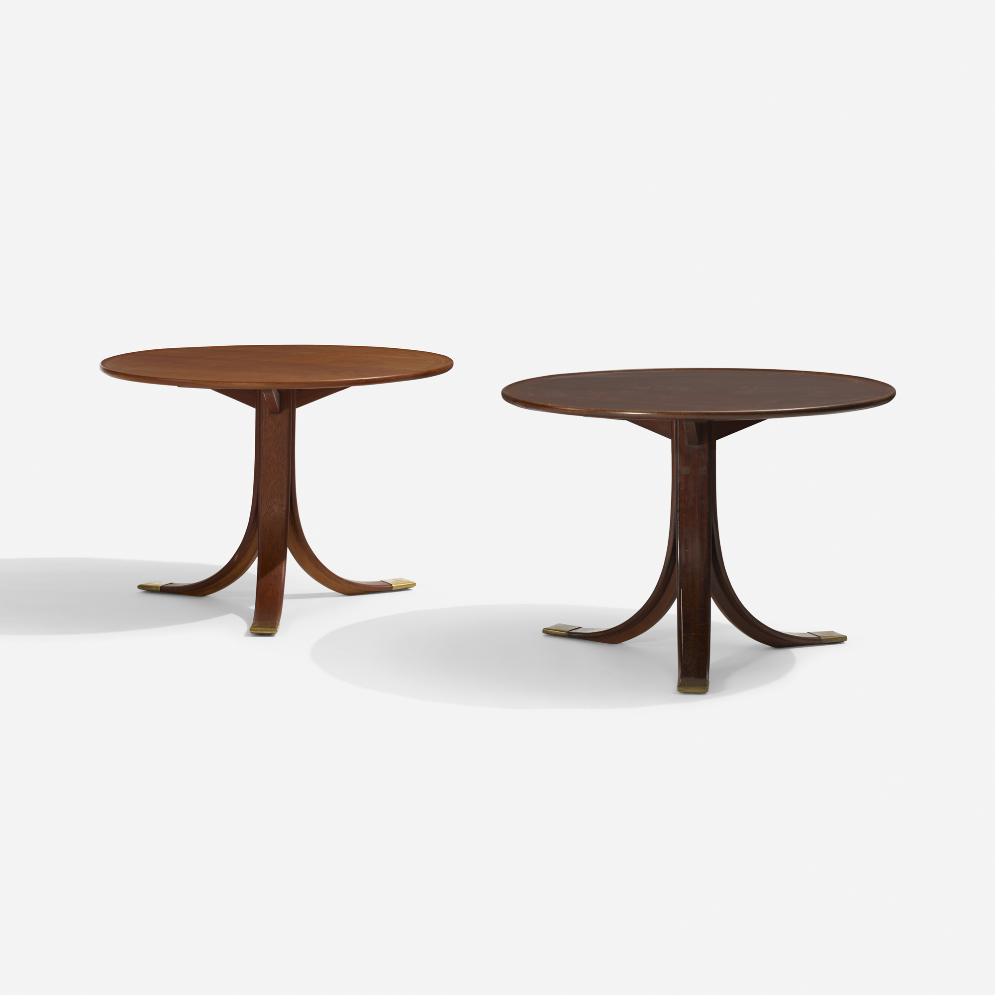 334: Frits Henningsen / occasional tables, set of two (1 of 2)
