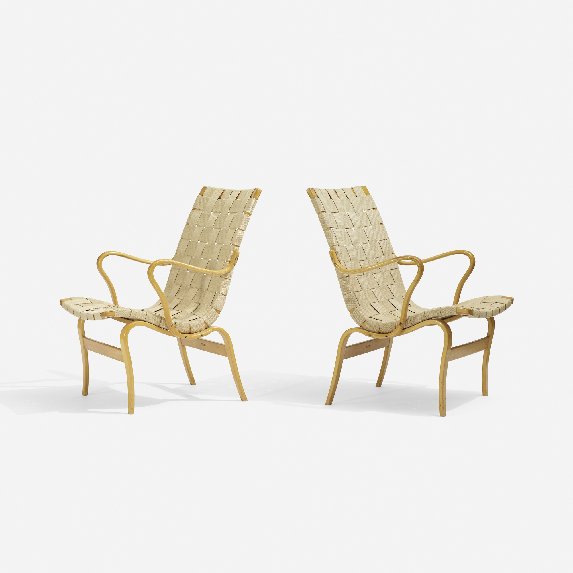 335: Bruno Mathsson / Eva chairs, pair (1 of 3)