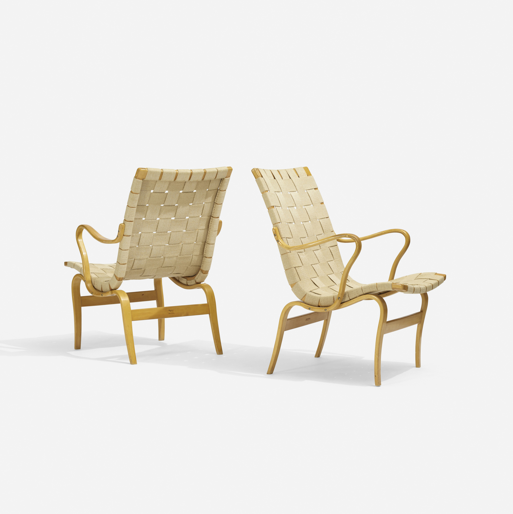 335: Bruno Mathsson / Eva chairs, pair (2 of 3)