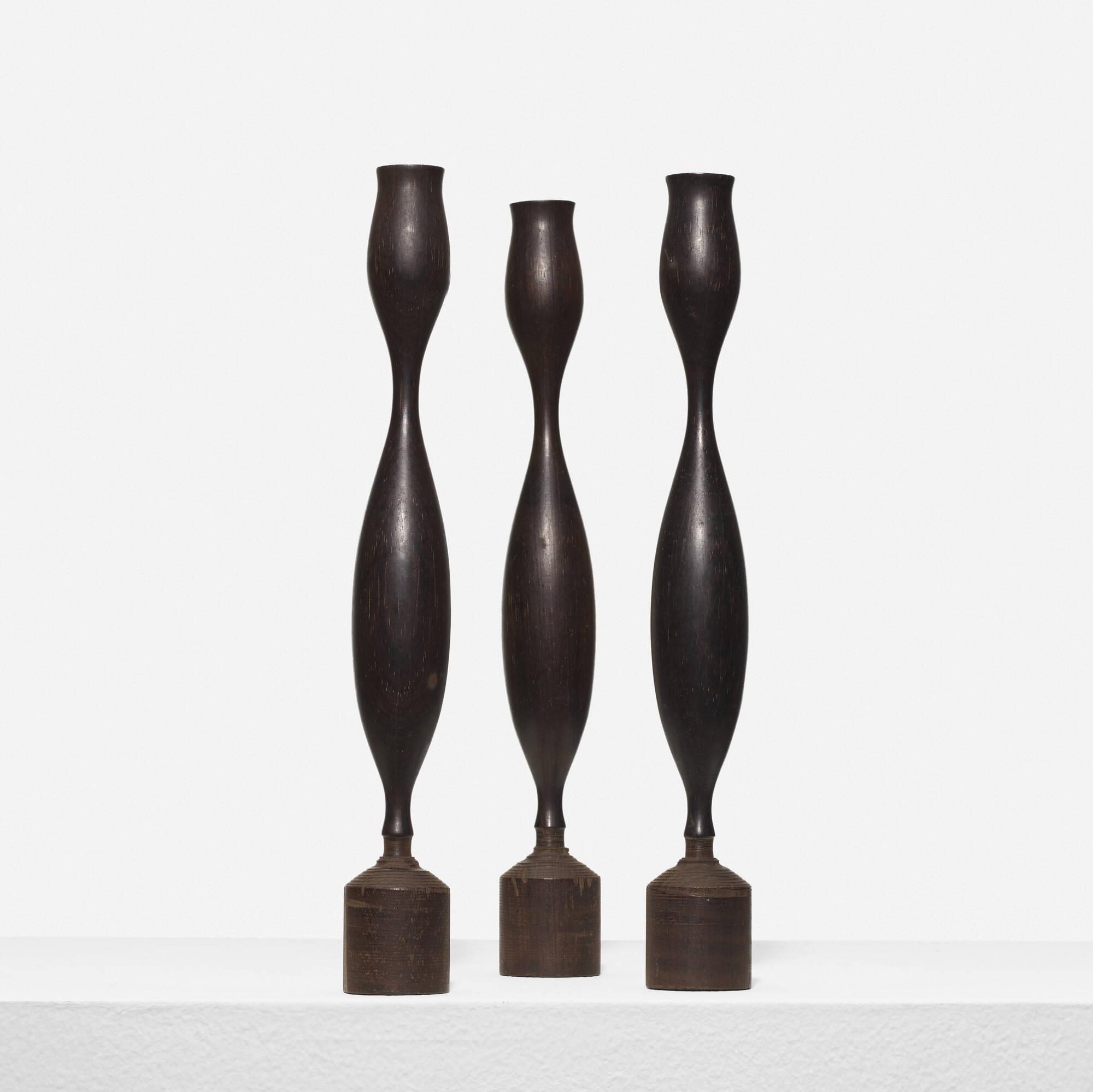 338: Eva Zeisel / prototype candlesticks, set of three (1 of 1)