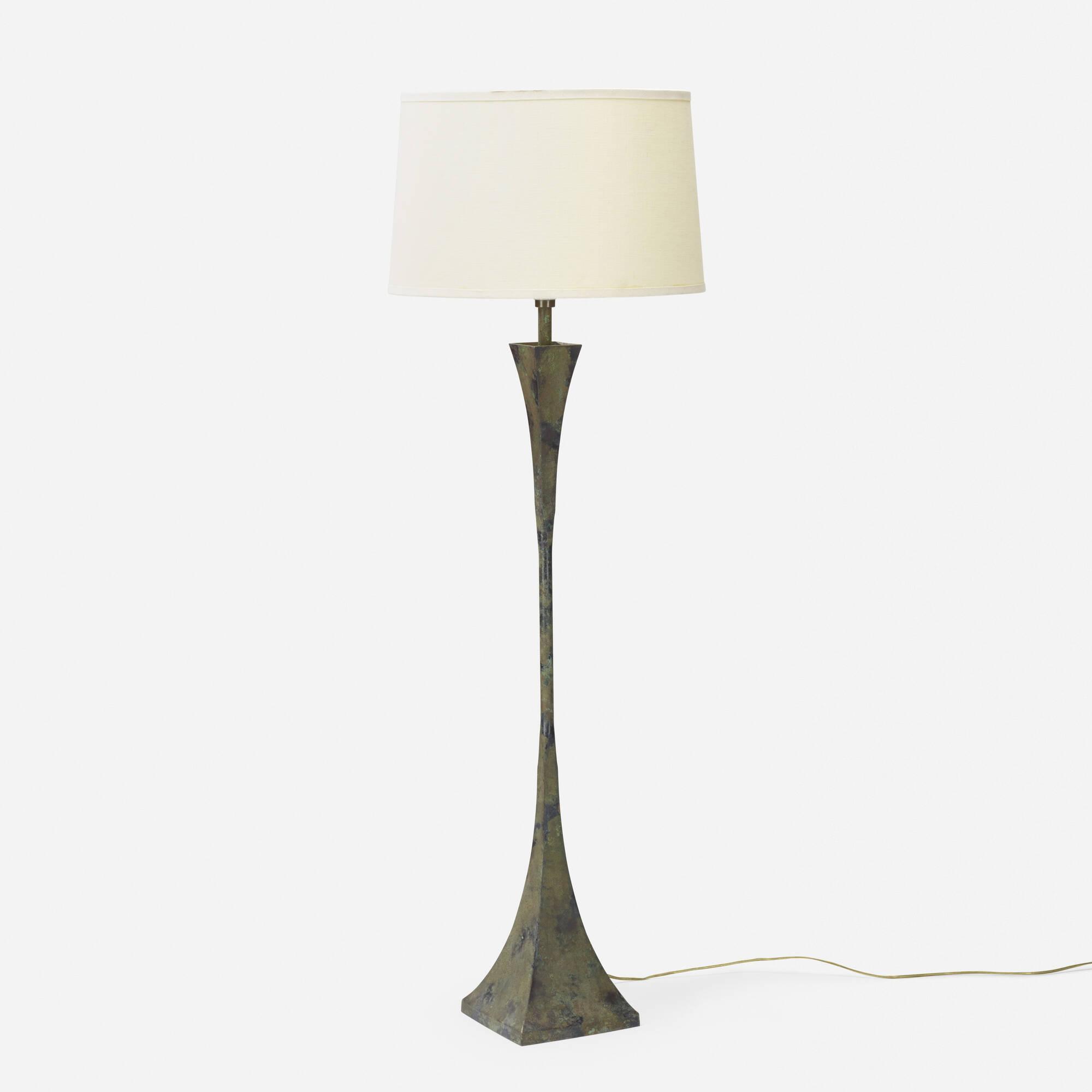 340: Stewart Ross James / Verdigris floor lamp (1 of 1)