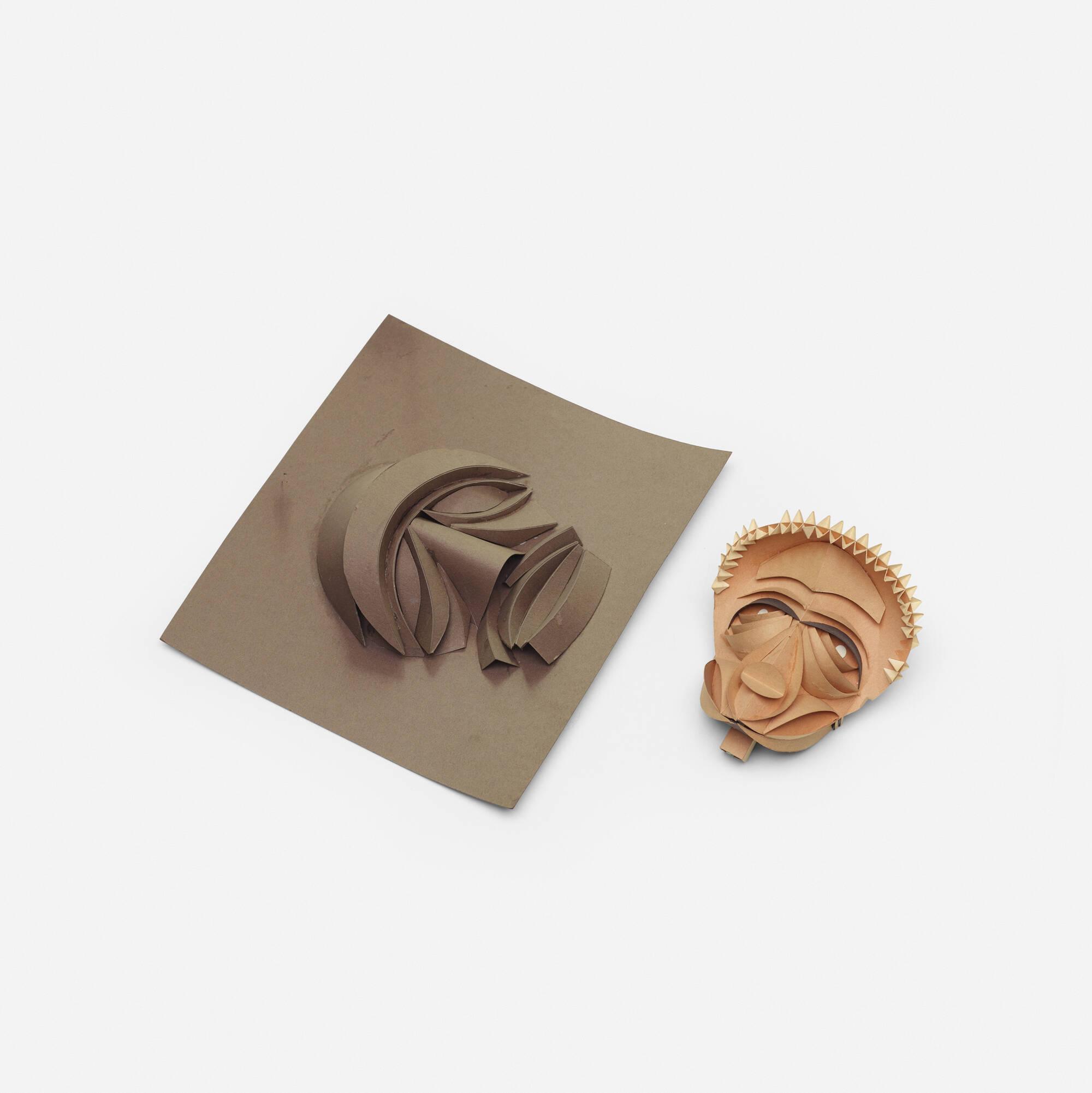 341: Irving Harper / Untitled (Masks, pair) (1 of 1)