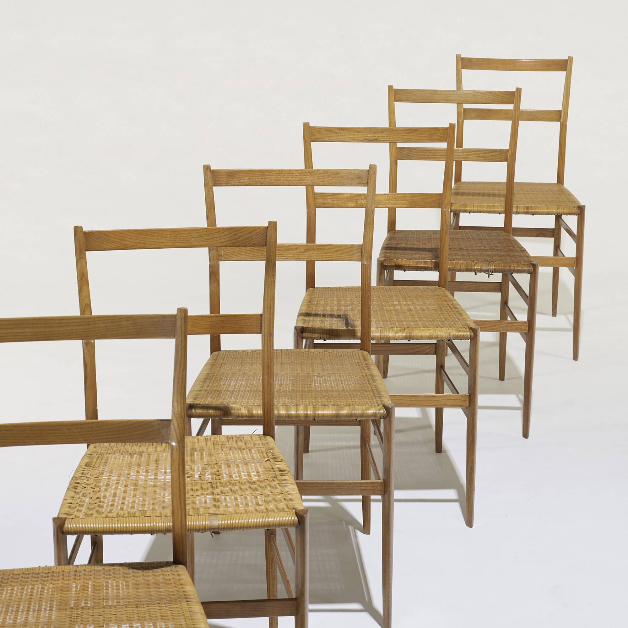 ... 341: Gio Ponti / Superleggera Chairs, Set Of Eight (3 Of 5)