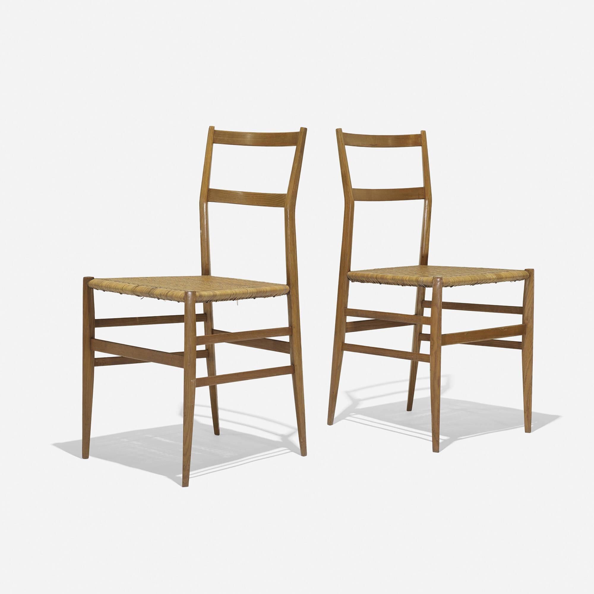 ... 341: Gio Ponti / Superleggera Chairs, Set Of Eight (4 Of 5)