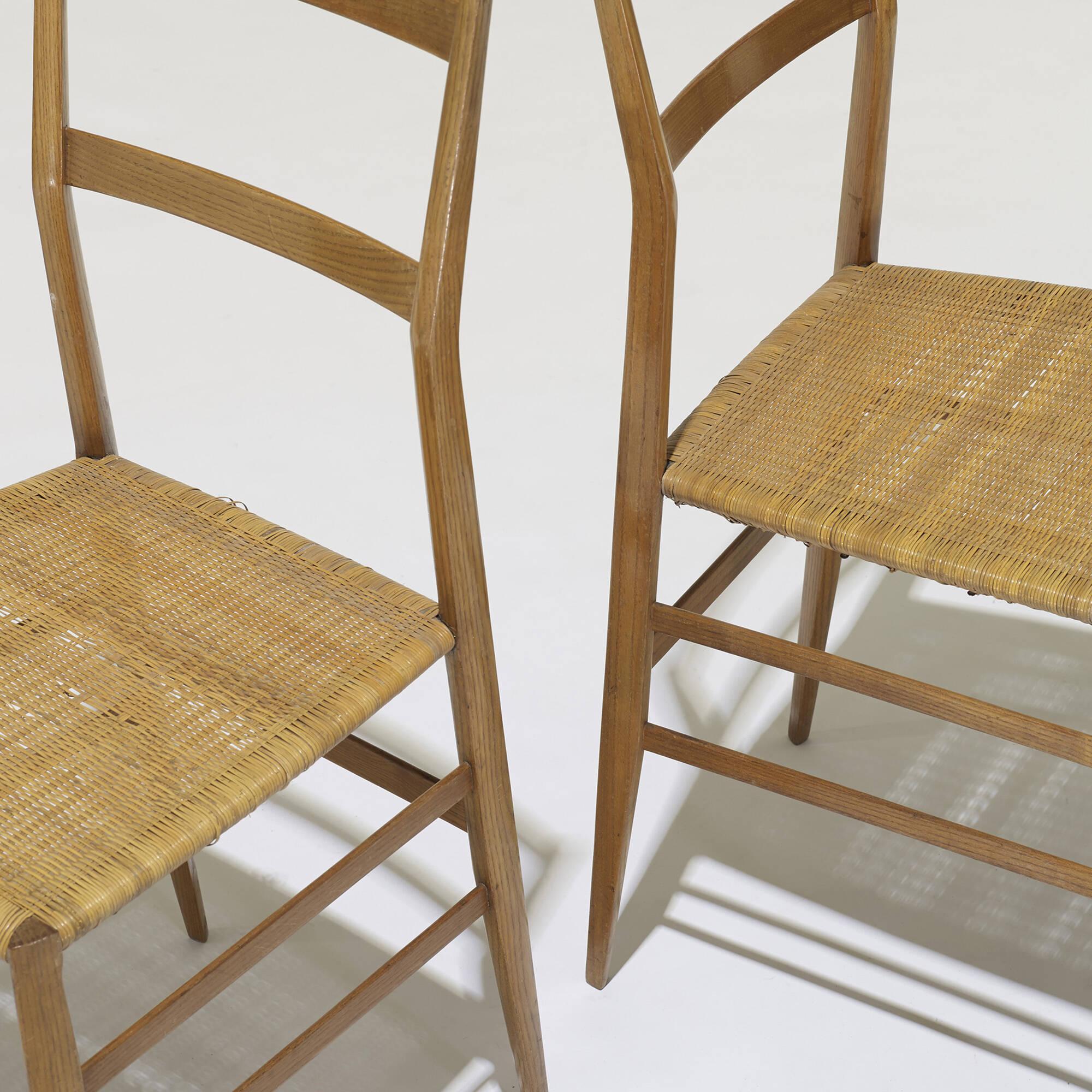 ... 341: Gio Ponti / Superleggera Chairs, Set Of Eight (5 Of 5)