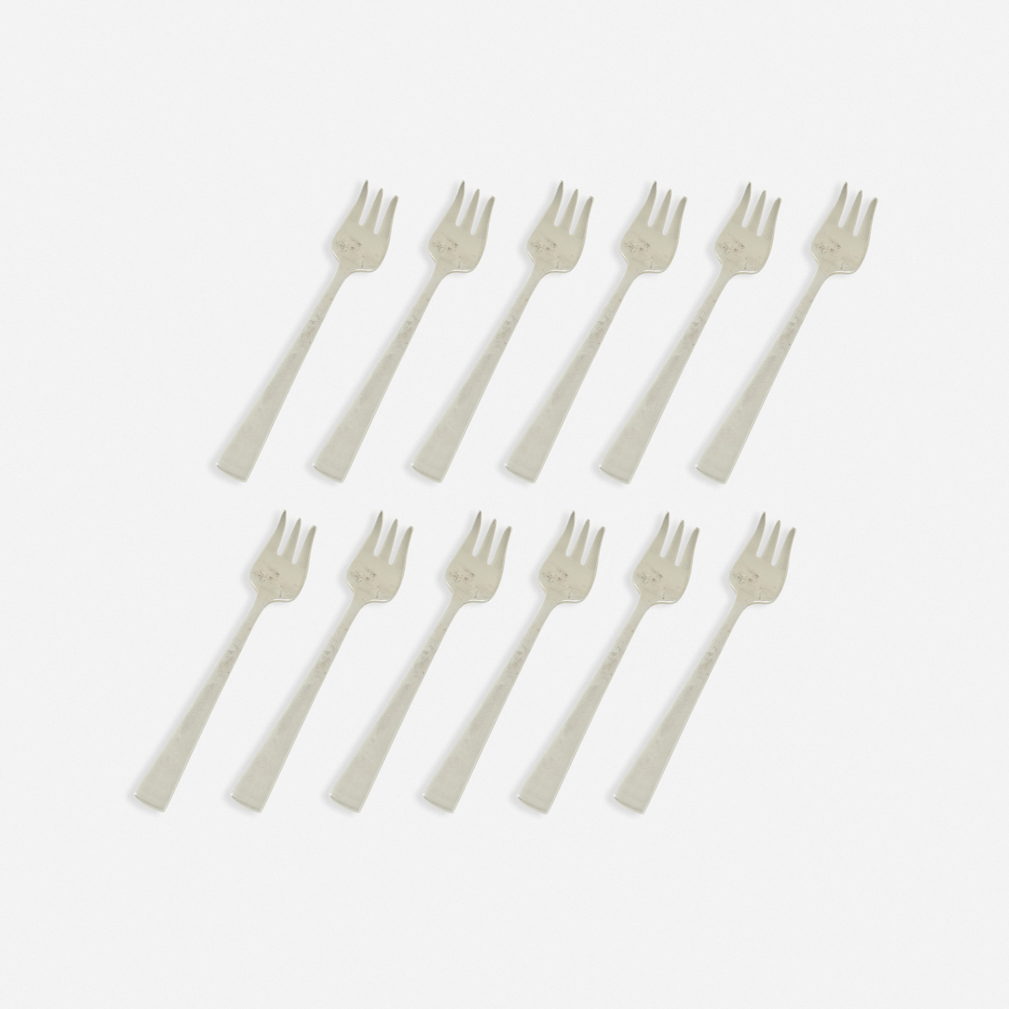 342: Garth and Ada Louise Huxtable / Oyster forks from The Four Seasons, set of twelve (1 of 1)