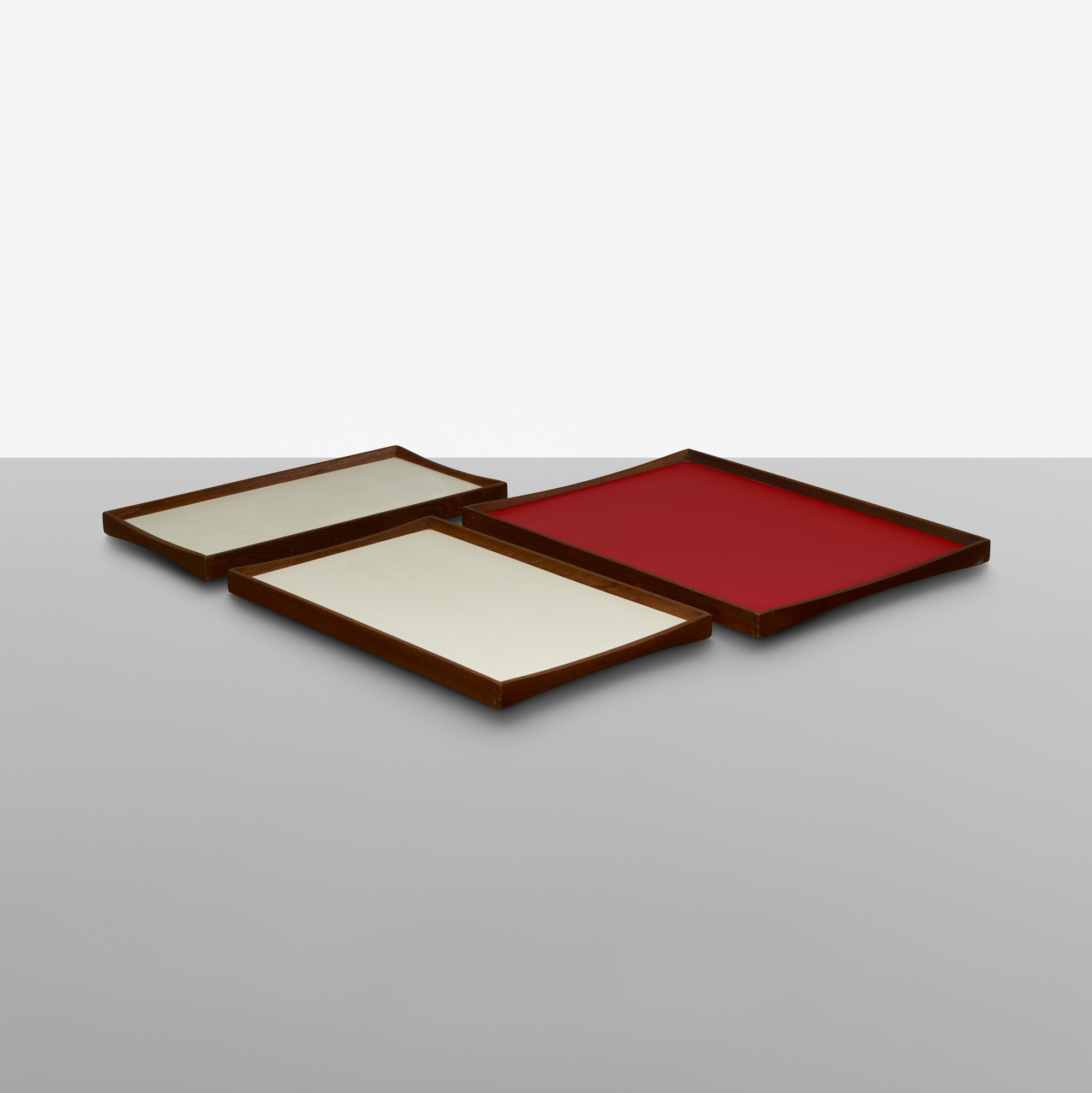 343: Finn Juhl / reversible trays, set of three (1 of 2)