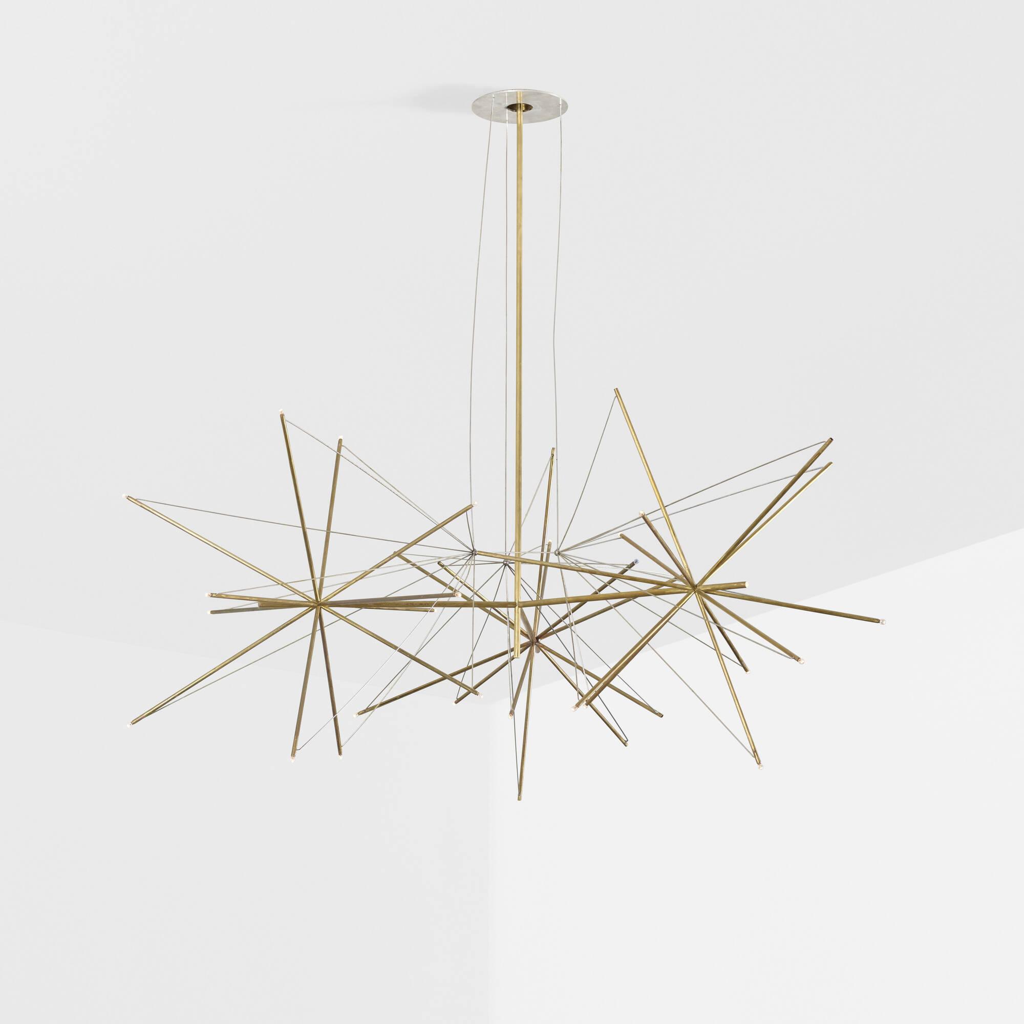 343: American / custom chandelier for the Washburn Residence (2 of 3)