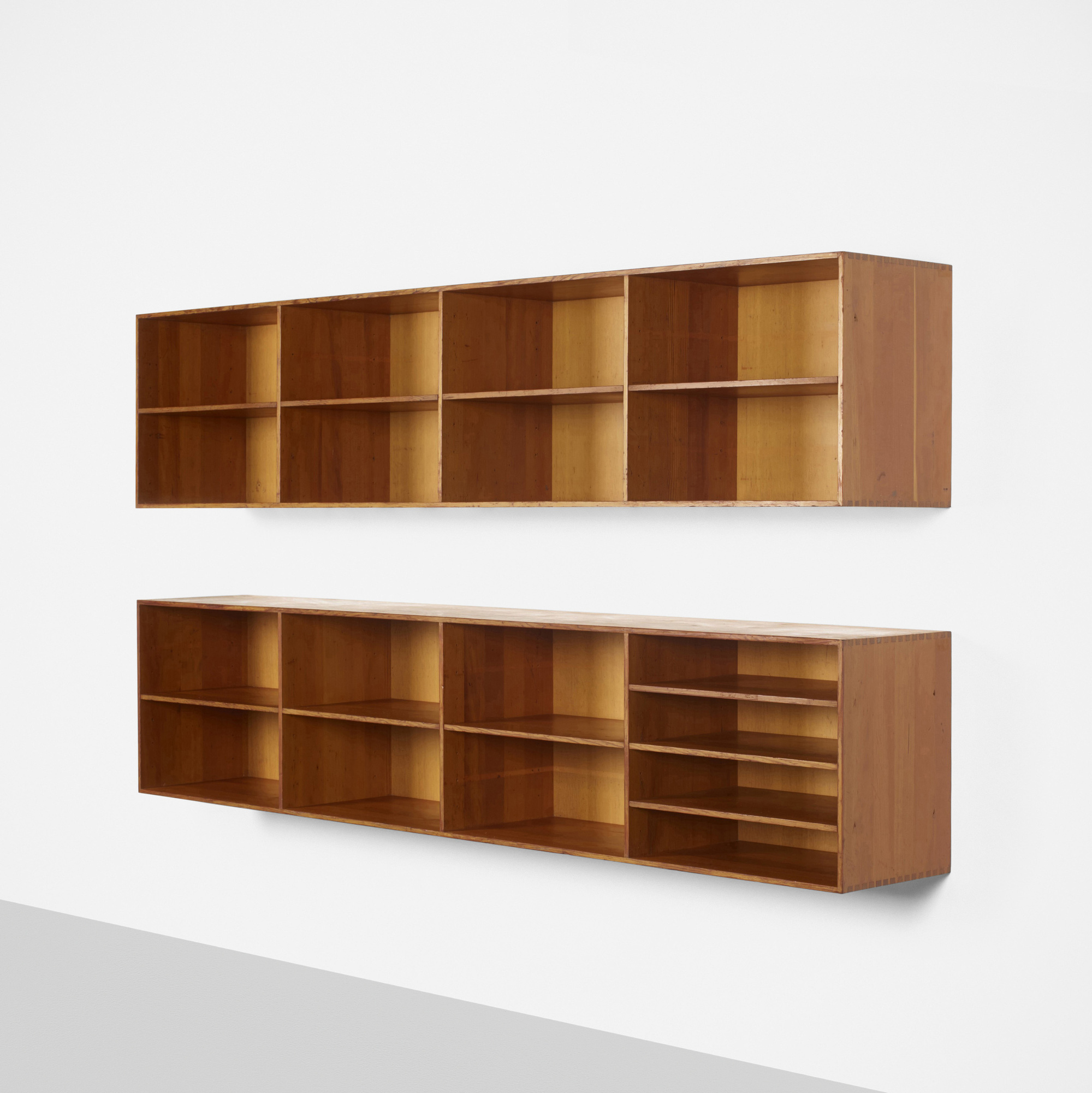 344 Mogens Koch Wall Mounted Bookcases Pair 1 Of 2