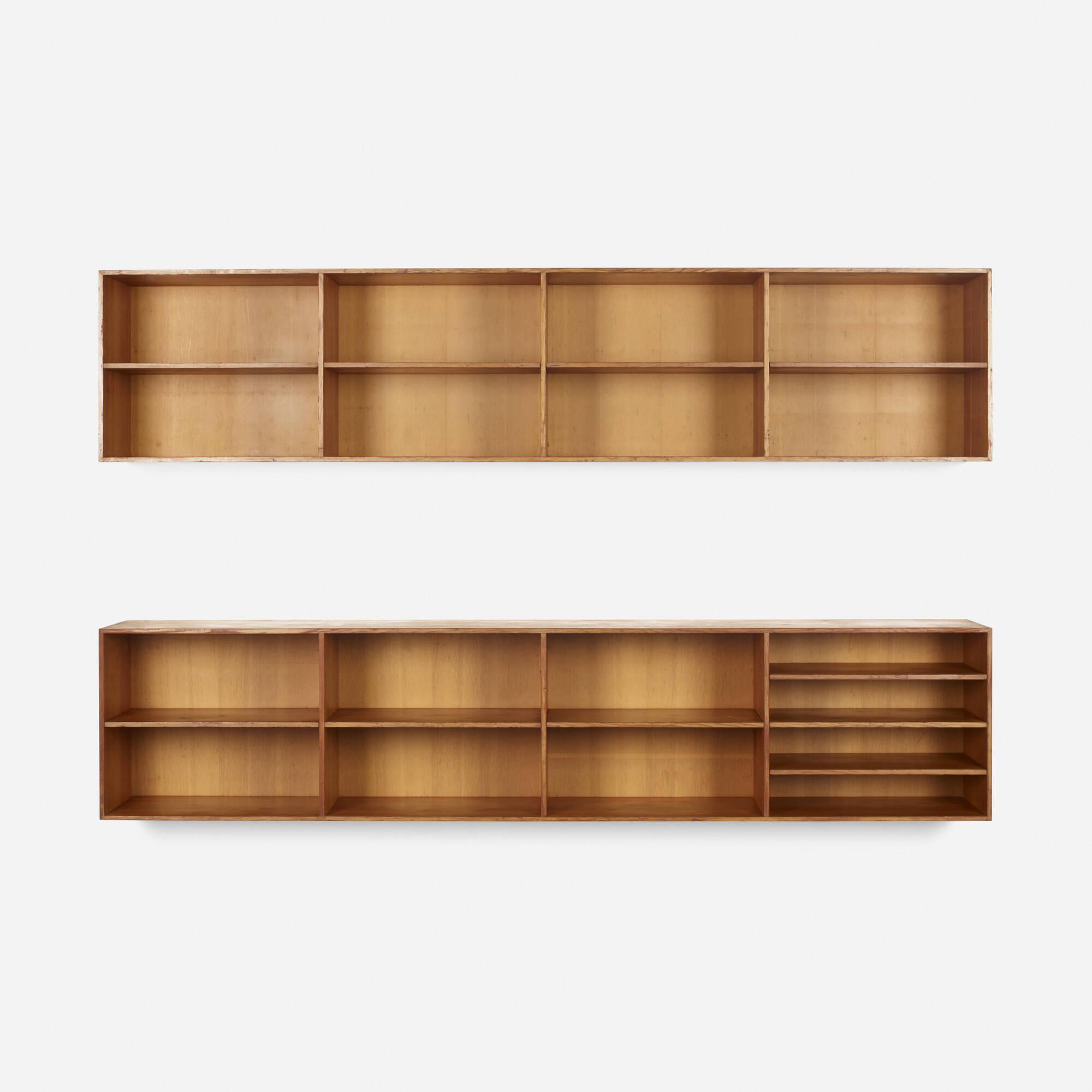 mogens koch  wallmounted bookcases pair  scandinavian  -   mogens koch  wallmounted bookcases pair ( of )