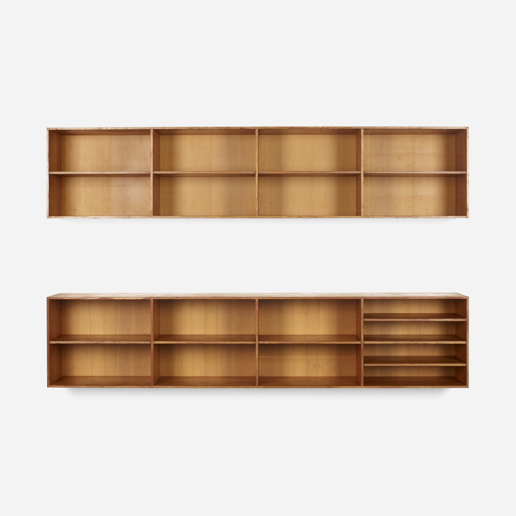 344 mogens koch wallmounted bookcases pair 2 of 2 - Wall Mounted Bookcase